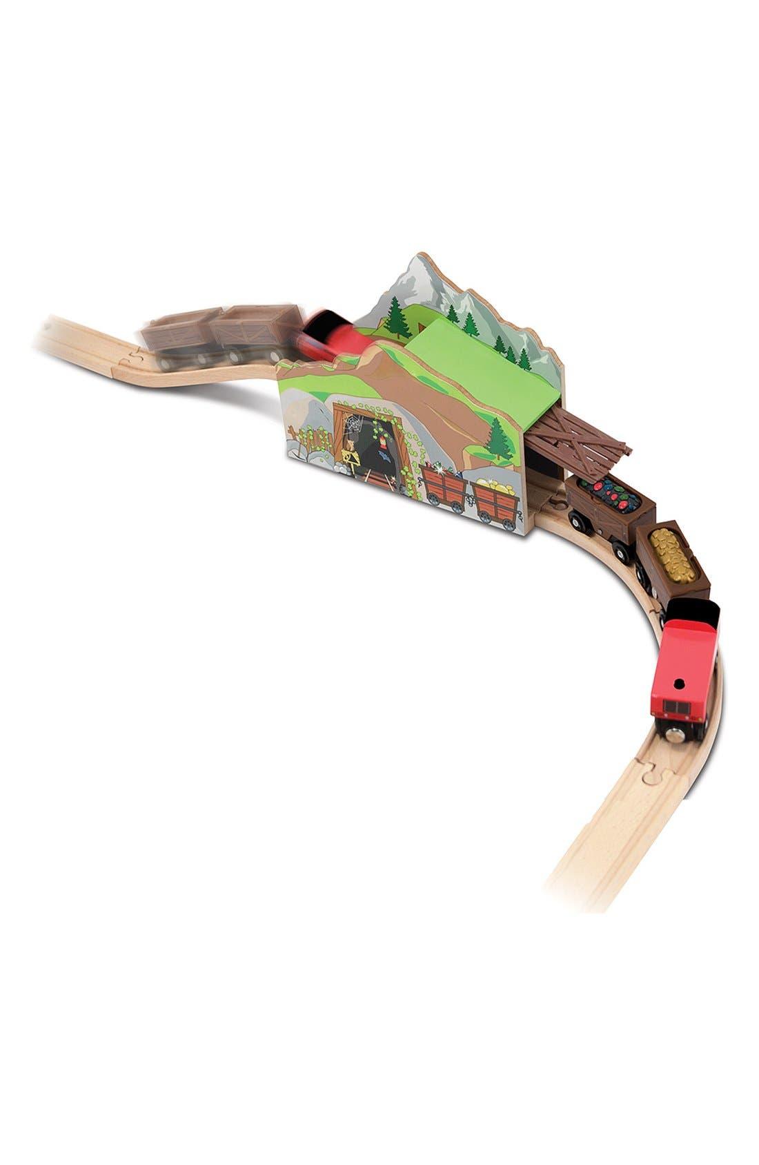 'Magic Mine Train Tunnel' Wooden Train Toy,                         Main,                         color, Brown