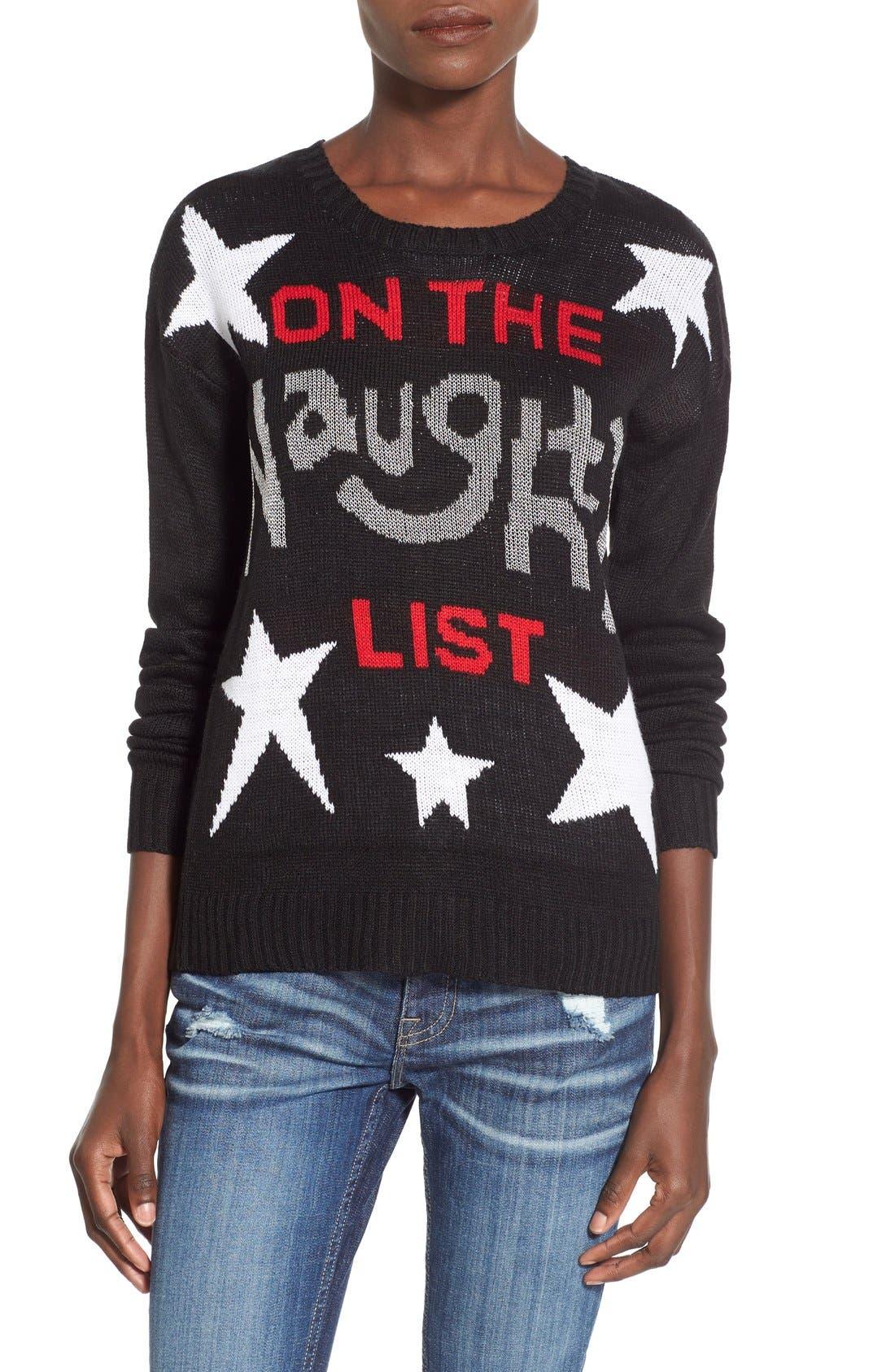 Alternate Image 1 Selected - Derek Heart 'Naughty List' Christmas Sweater