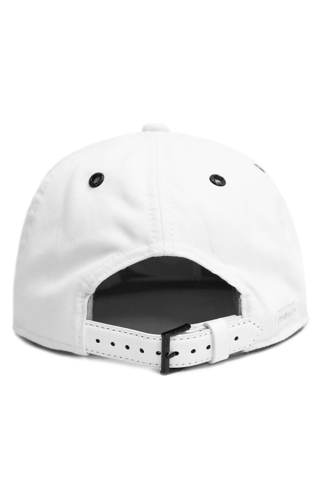 'The Vision' Horizon Fit Flat Brim Baseball Cap,                             Alternate thumbnail 2, color,                             White