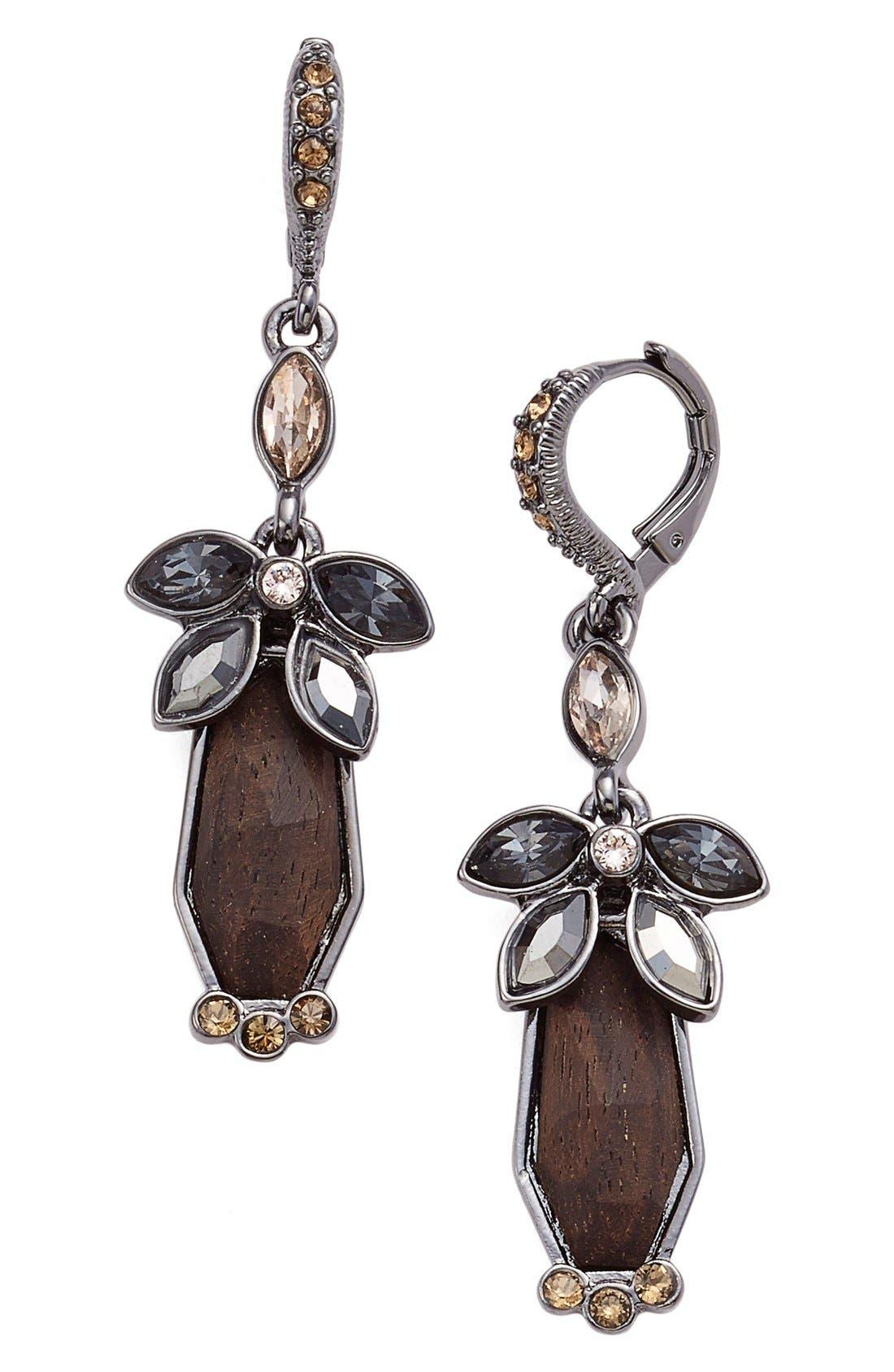 Main Image - Givenchy Crystal & Wood Drop Earrings