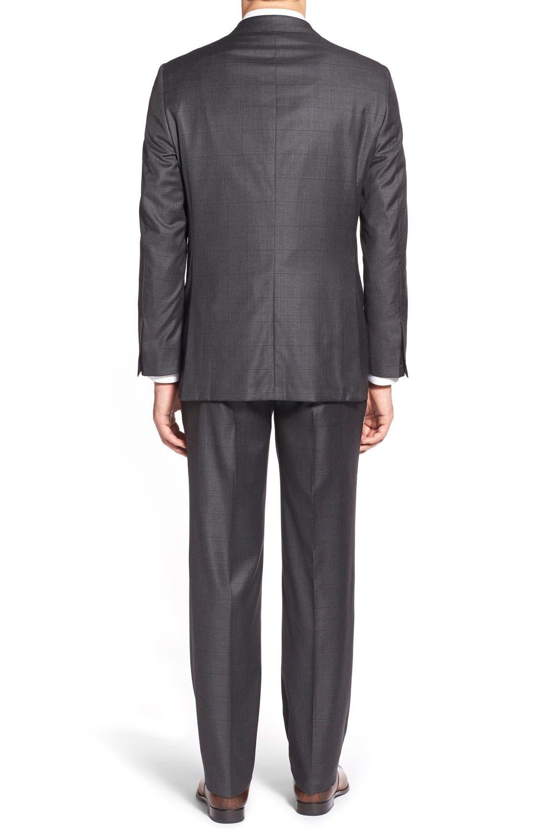 Alternate Image 2  - Hickey Freeman Classic B Fit Windowpane Wool Suit