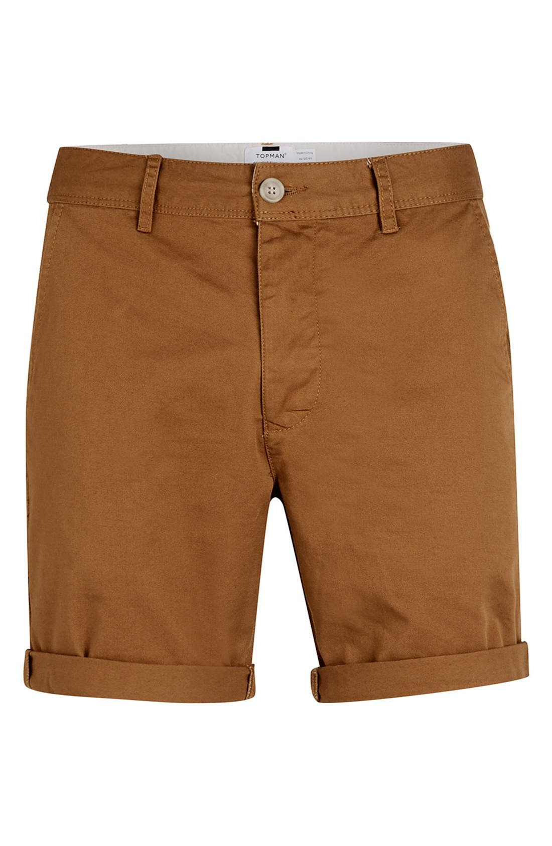 Chino Shorts,                             Alternate thumbnail 4, color,                             Mustard
