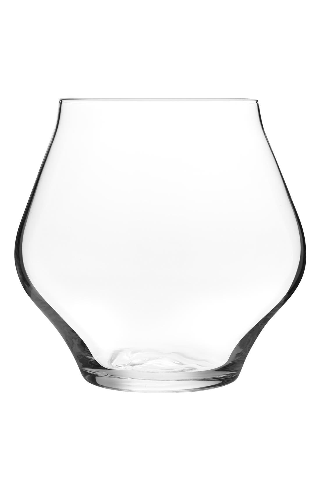 Set of 2 Stemless Wine Glasses,                         Main,                         color, Clear