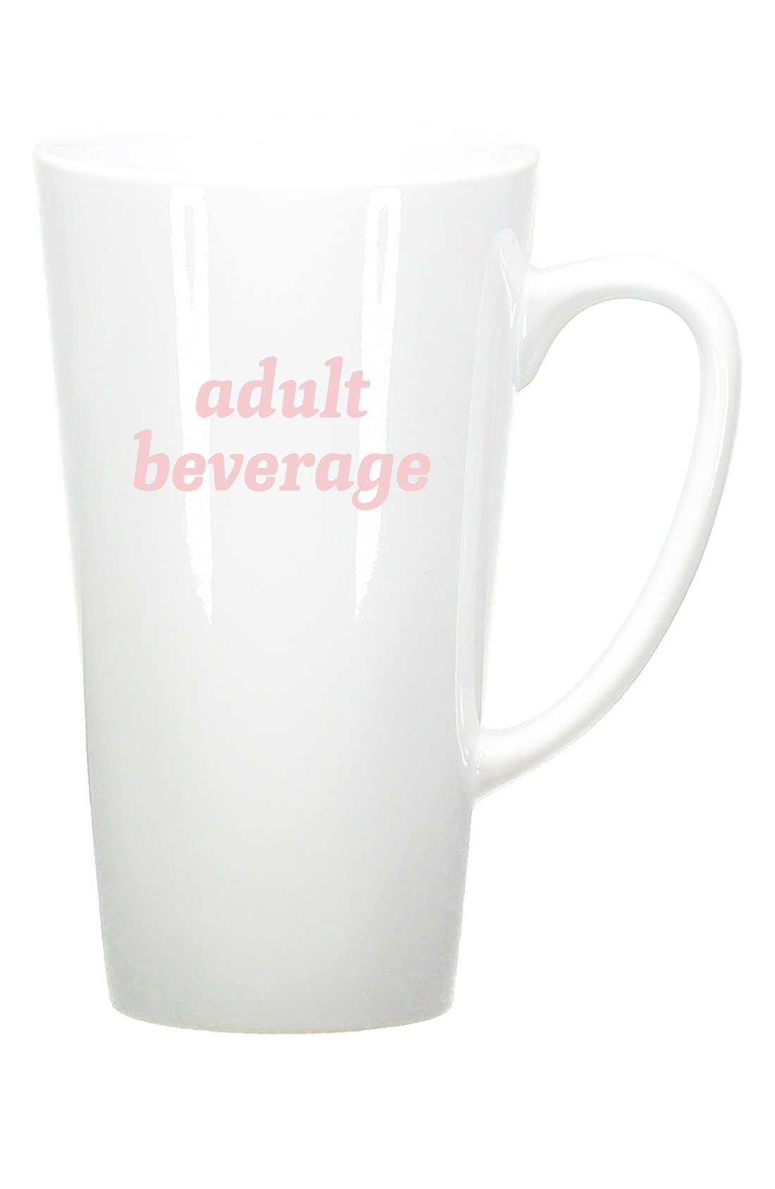 Alternate Image 1 Selected - Bow & Drape 'Adult Beverage' Ceramic Mug