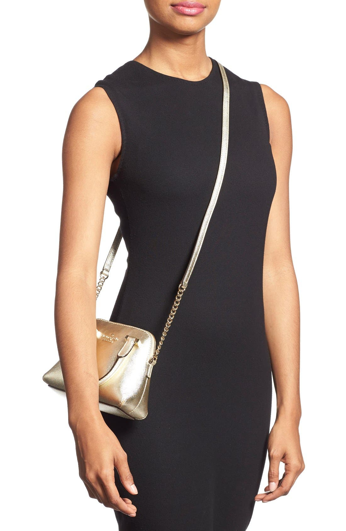 Alternate Image 2  - kate spade new york 'cedar street - mini maise' metallic leather crossbody bag