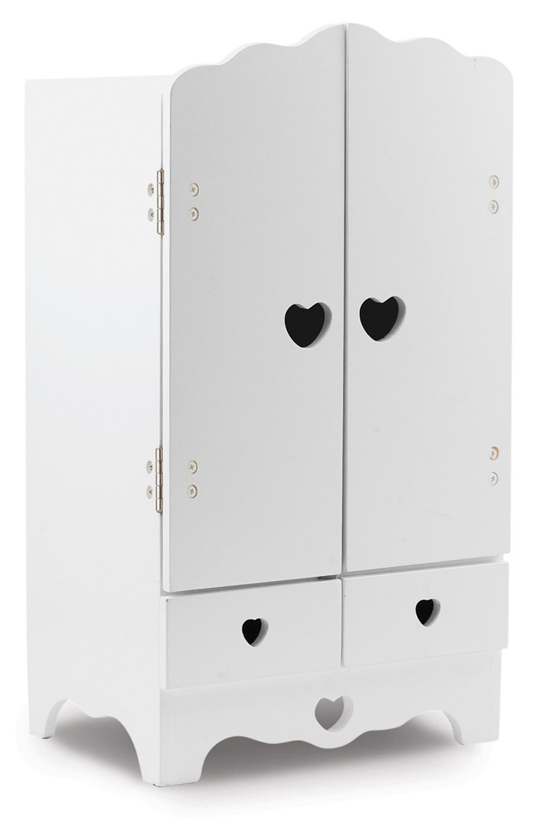 Wooden Doll Armoire,                         Main,                         color, White