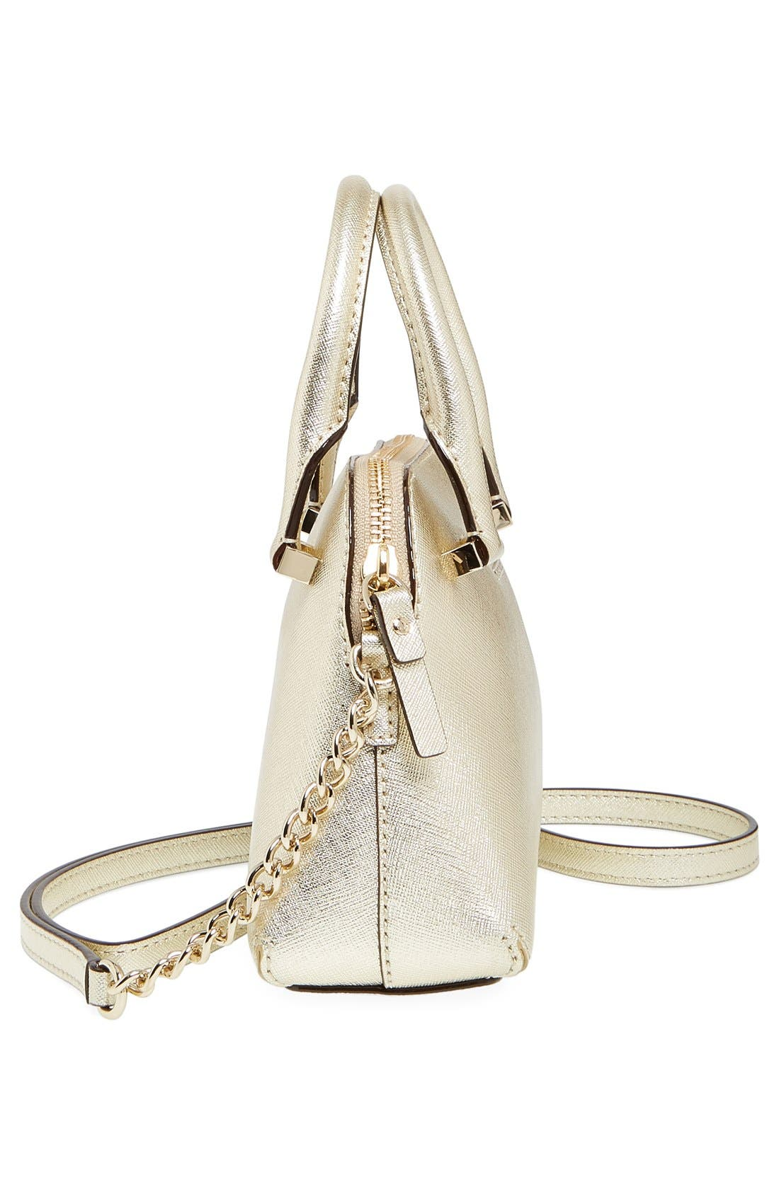 Alternate Image 5  - kate spade new york 'cedar street - mini maise' metallic leather crossbody bag