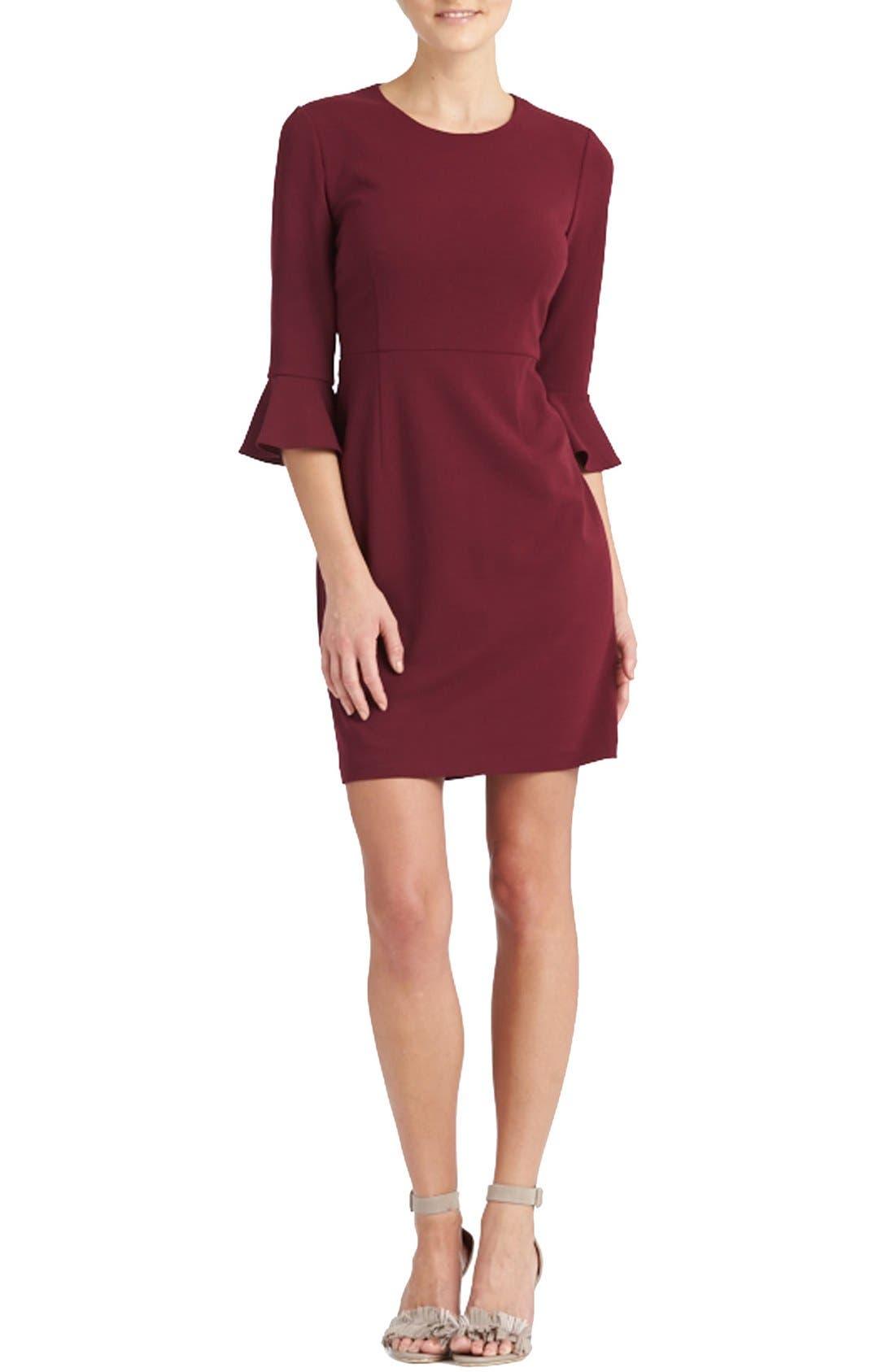 Alternate Image 3  - Donna Morgan Belle Sleeve Crepe Sheath Dress