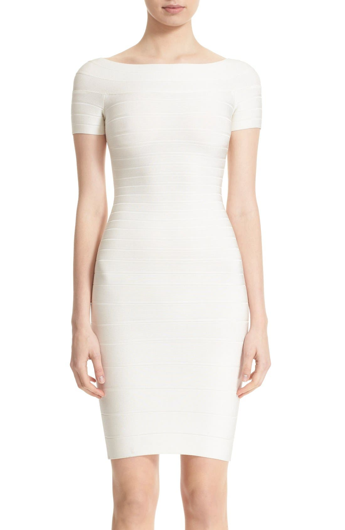 Alternate Image 1 Selected - Herve Leger 'Carmen' Off the Shoulder Bandage Dress