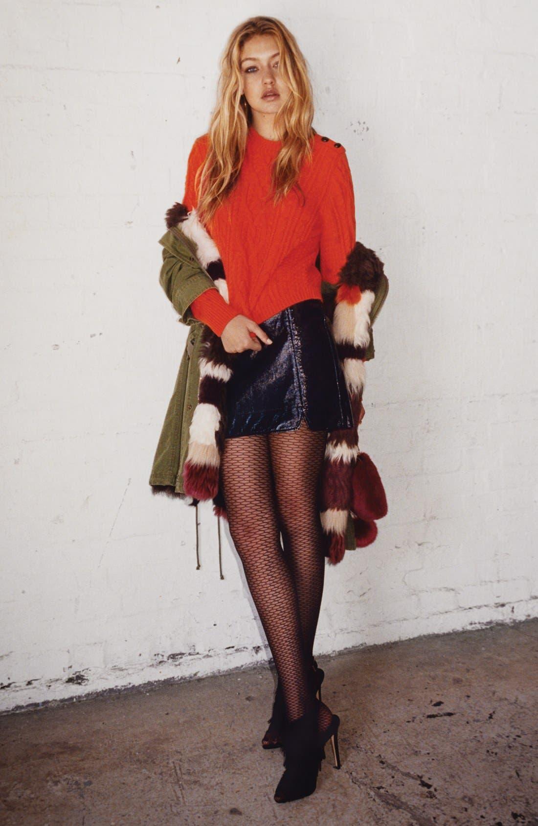 Alternate Image 7  - Topshop Patchwork Faux Fur Lined Parka