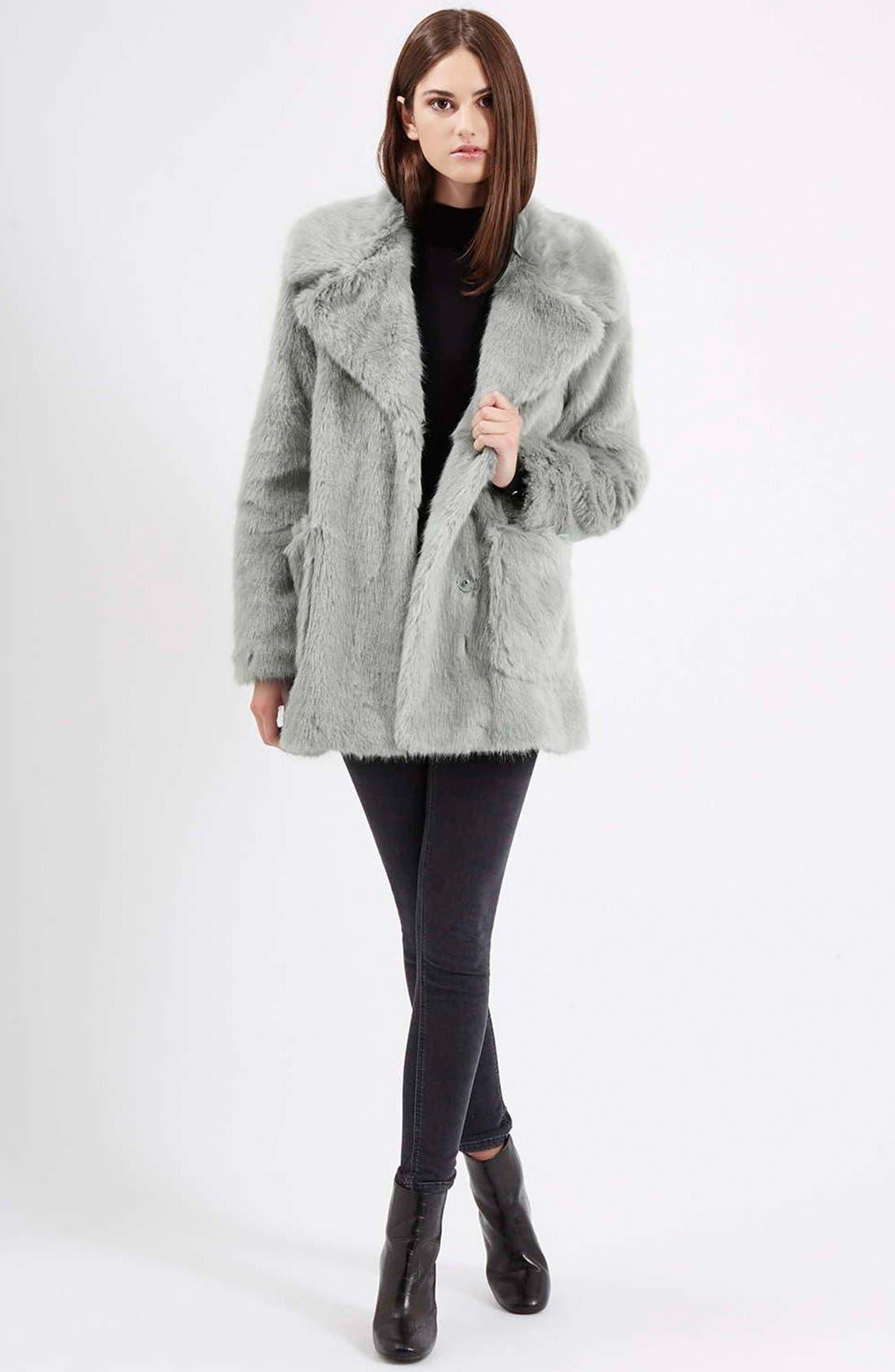 Alternate Image 2  - Topshop 'Claire' Faux Fur Coat
