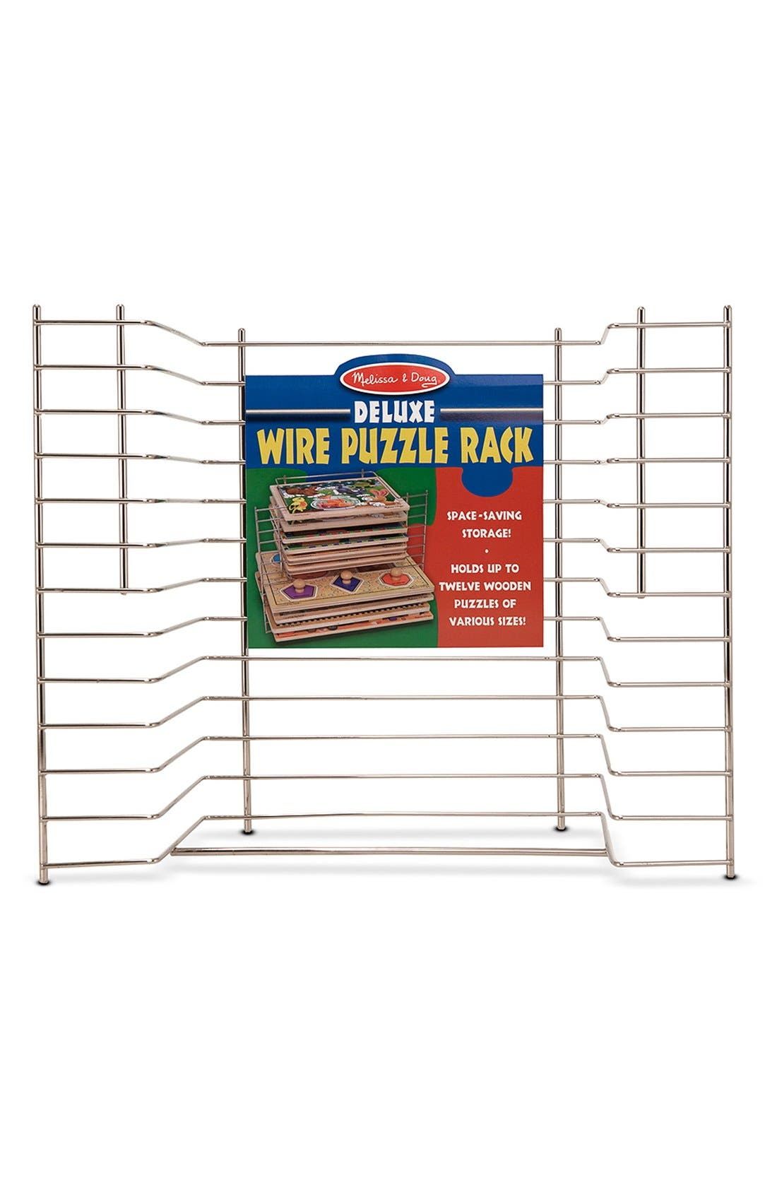 'Deluxe' Wire Puzzle Rack,                         Main,                         color, Silver
