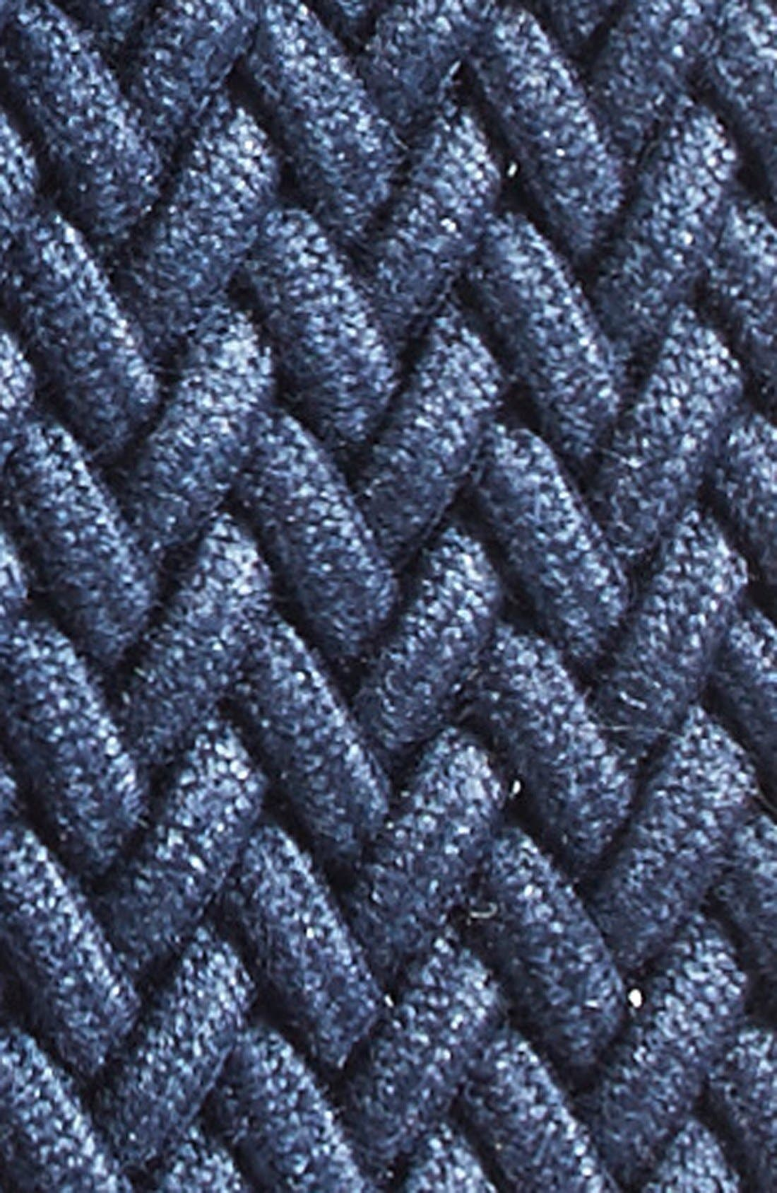 Braided Stretch Cotton Belt,                             Alternate thumbnail 2, color,                             Navy