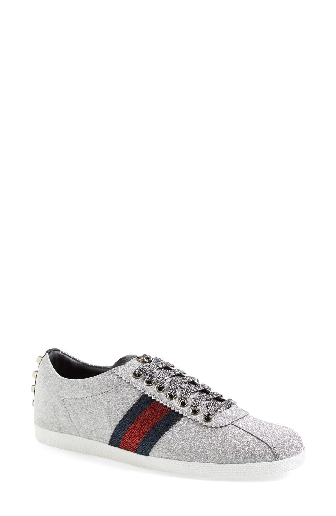 Alternate Image 1 Selected - Gucci Lace-Up Sneaker (Women)