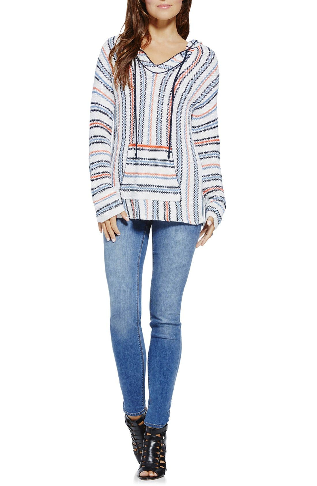 Alternate Image 3  - Two by Vince Camuto Textured Stripe Hoodie