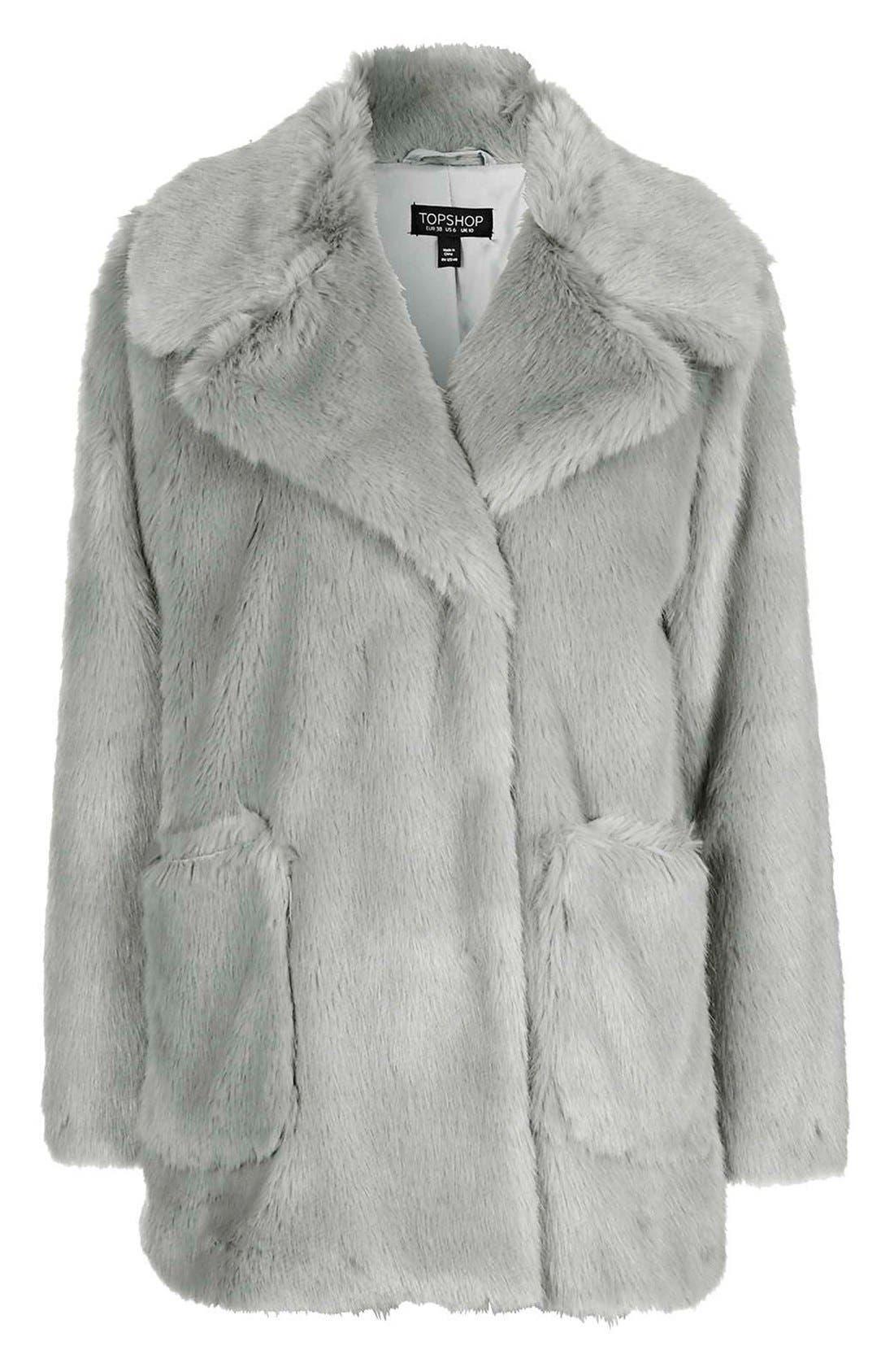 Alternate Image 5  - Topshop 'Claire' Faux Fur Coat
