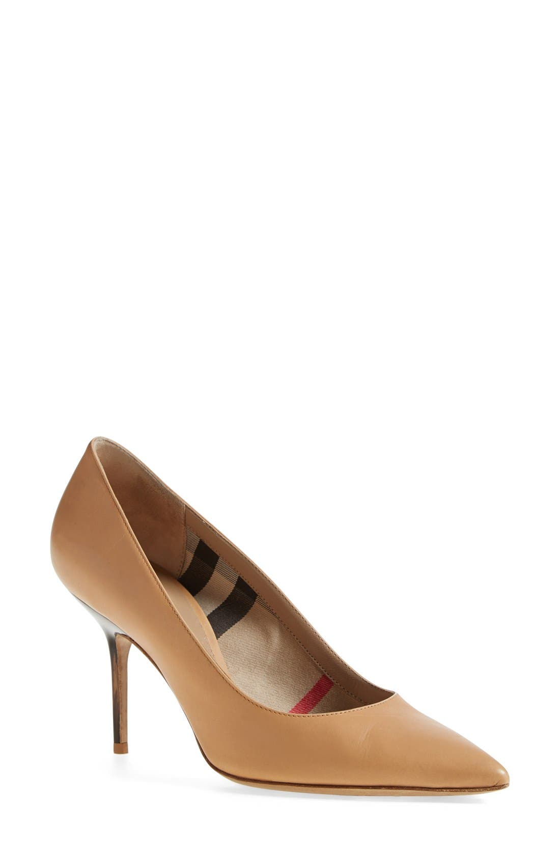 'Mawdesley' Pointy Toe Pump,                         Main,                         color, Nude