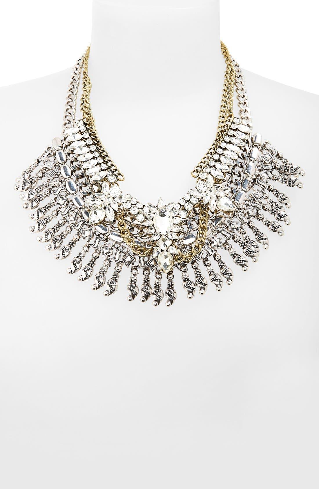 Alternate Image 2  - Leith Crystal & Fringe Layered Statement Necklace