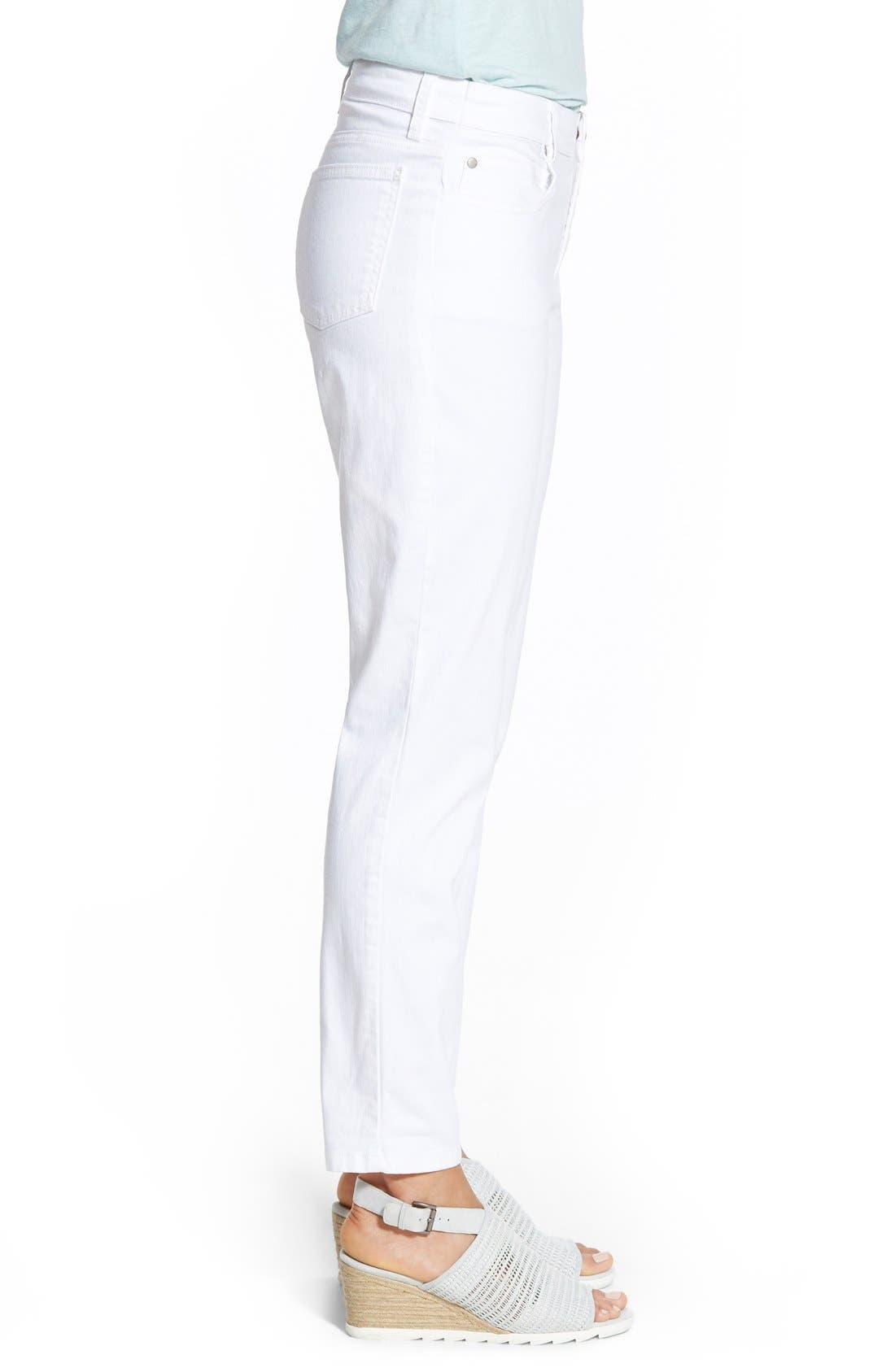 Stretch Organic Cotton Skinny Jeans,                             Alternate thumbnail 4, color,                             White