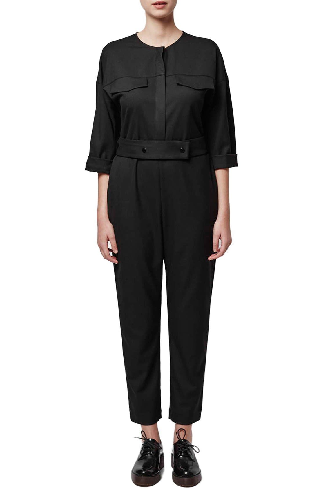 Alternate Image 1 Selected - Topshop Boutique Tailored Jumpsuit