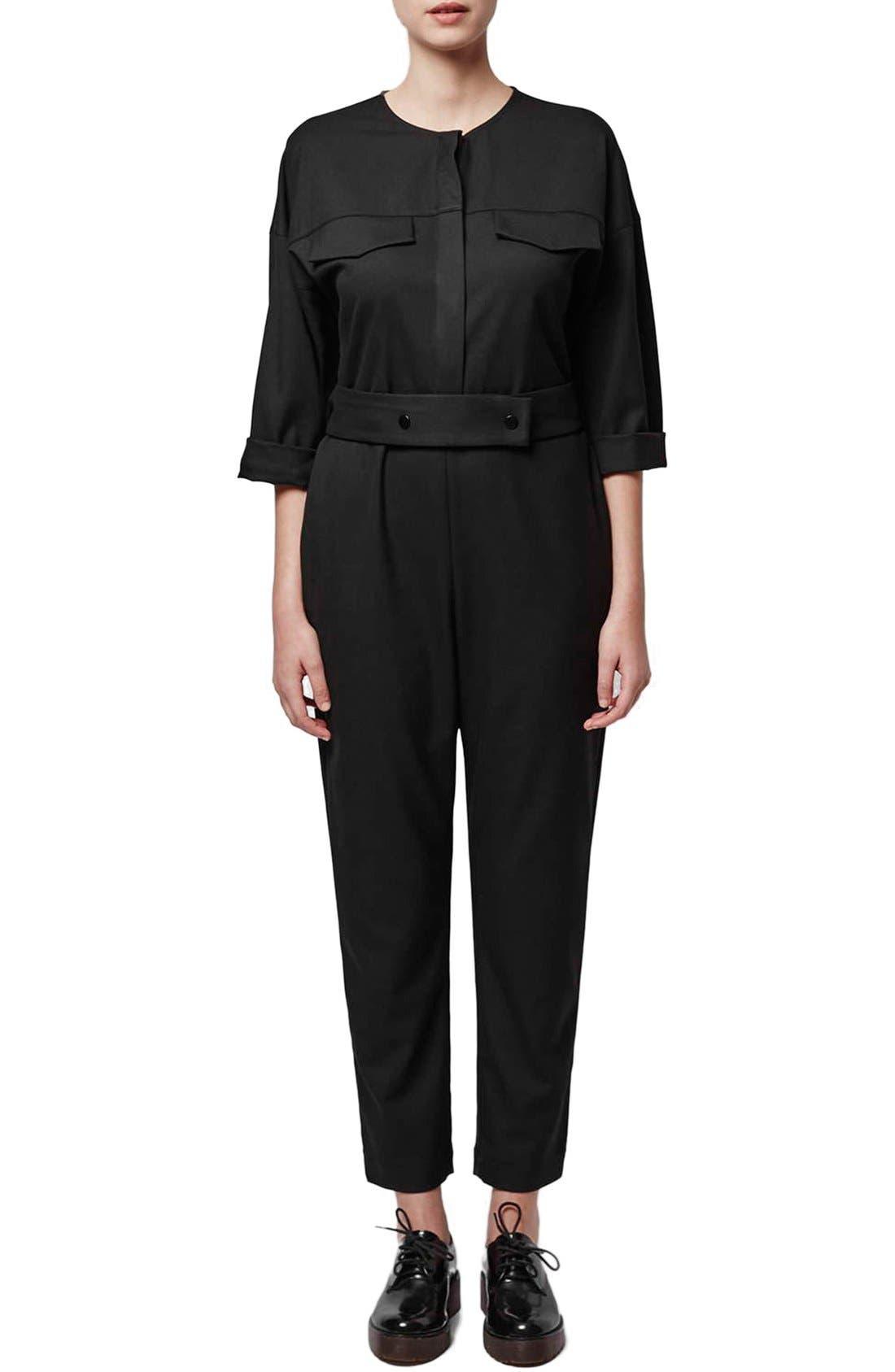 Main Image - Topshop Boutique Tailored Jumpsuit