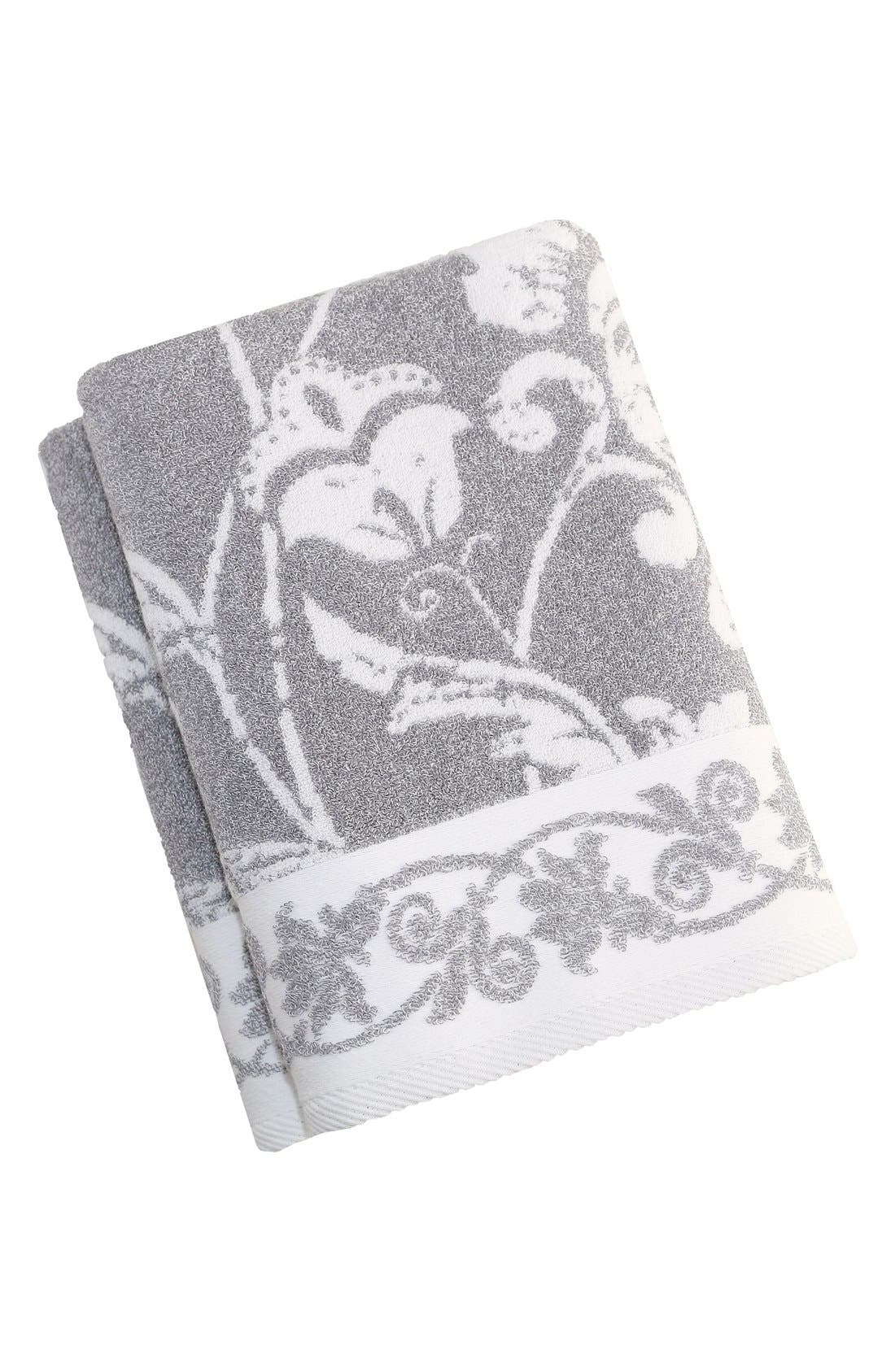 Linum 'Penelope' Turkish Cotton Bath Towels,                             Main thumbnail 1, color,                             Dove Grey