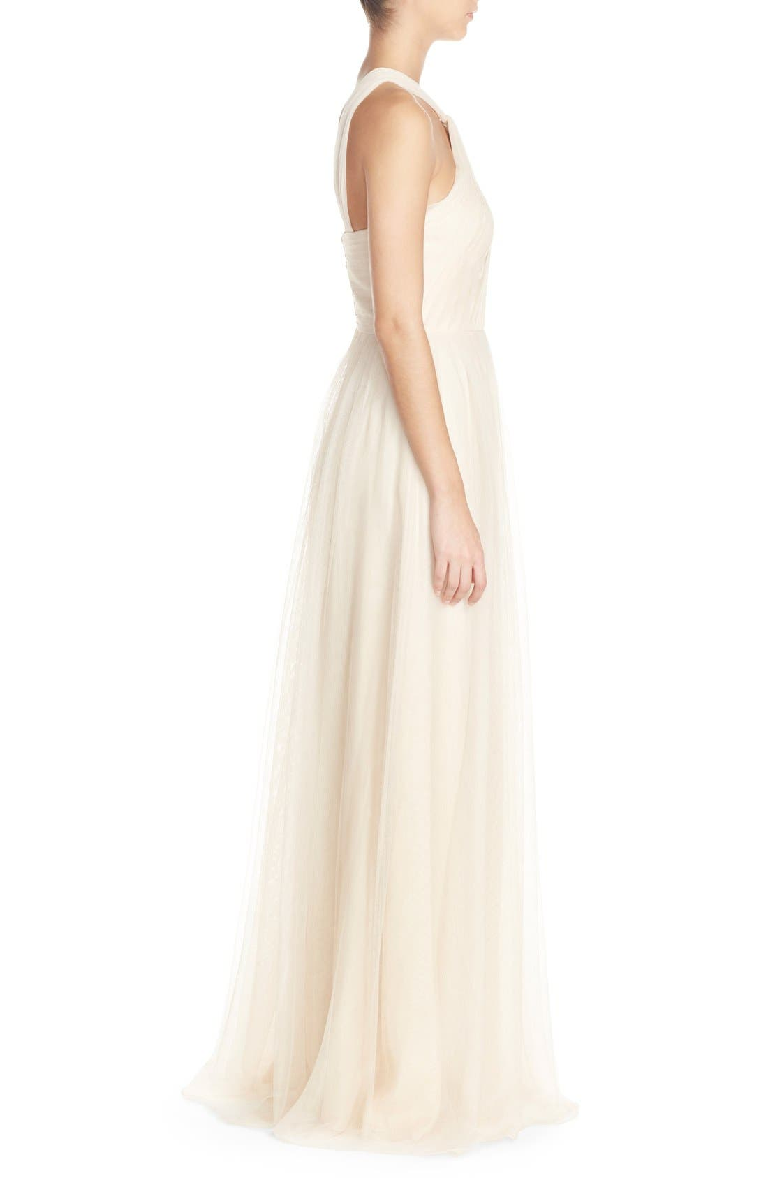Alternate Image 3  - Donna Morgan 'Ava' Halter Style Mesh A-Line Gown