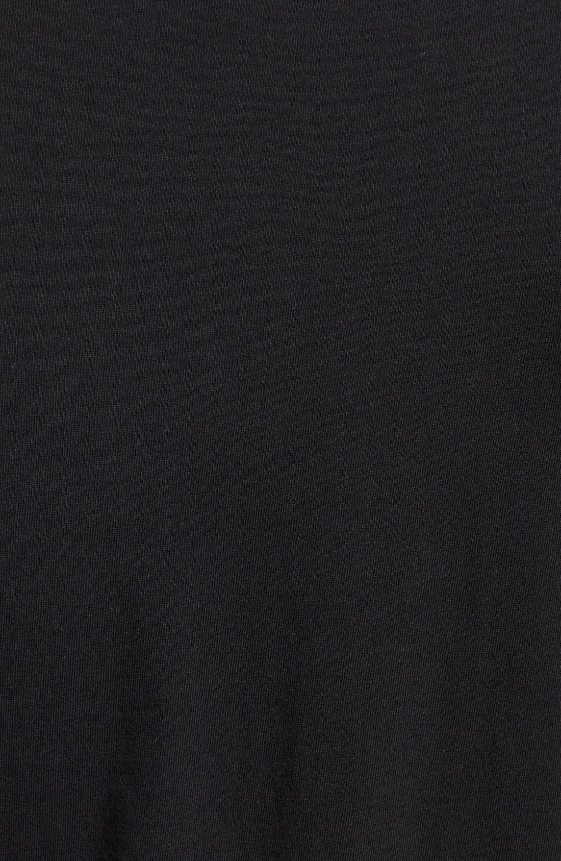 Crewneck T-Shirt,                             Alternate thumbnail 5, color,                             Black