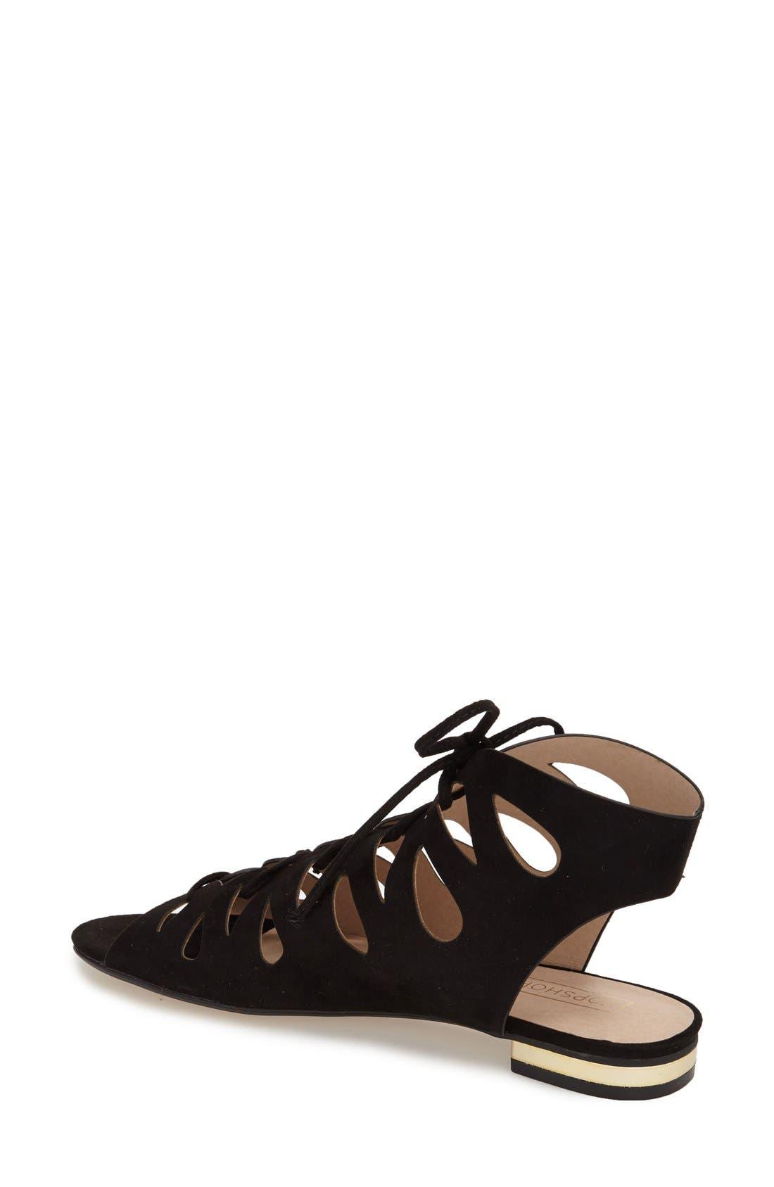 Alternate Image 2  - Topshop 'Hello Micro' Gladiator Sandal (Women)