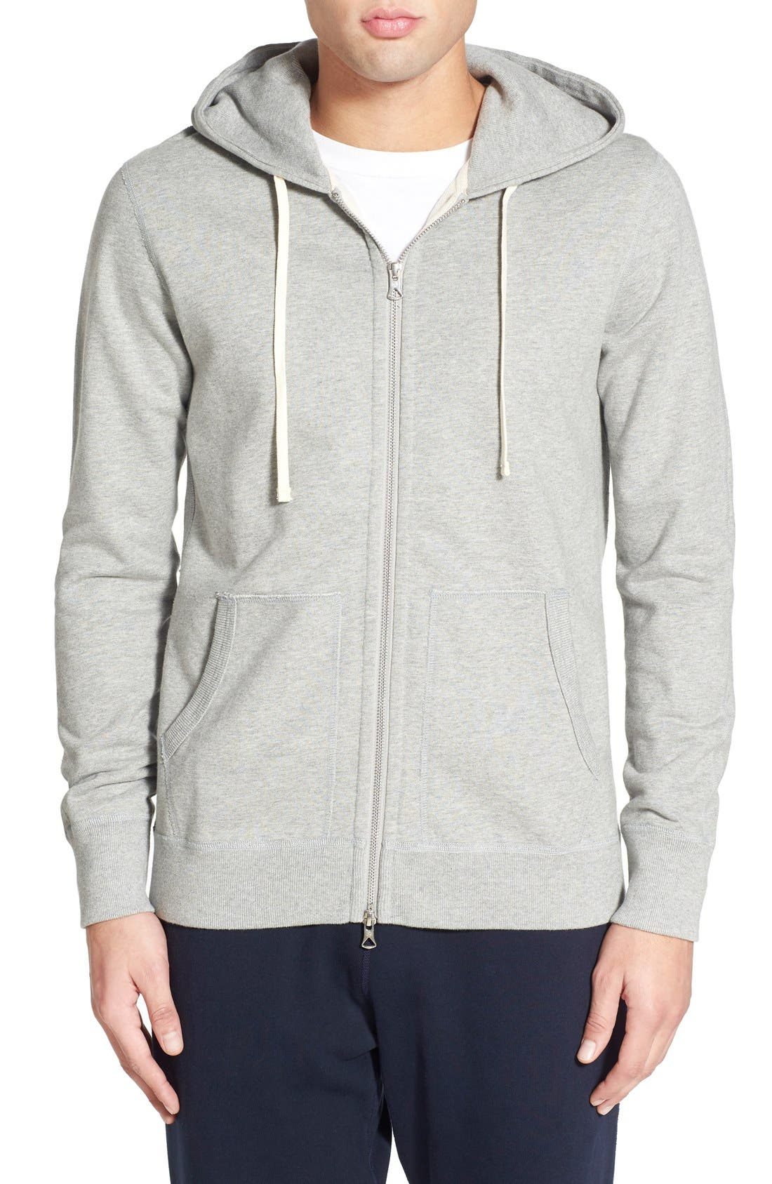 Alternate Image 1 Selected - Reigning Champ Trim Fit Full Zip Hoodie