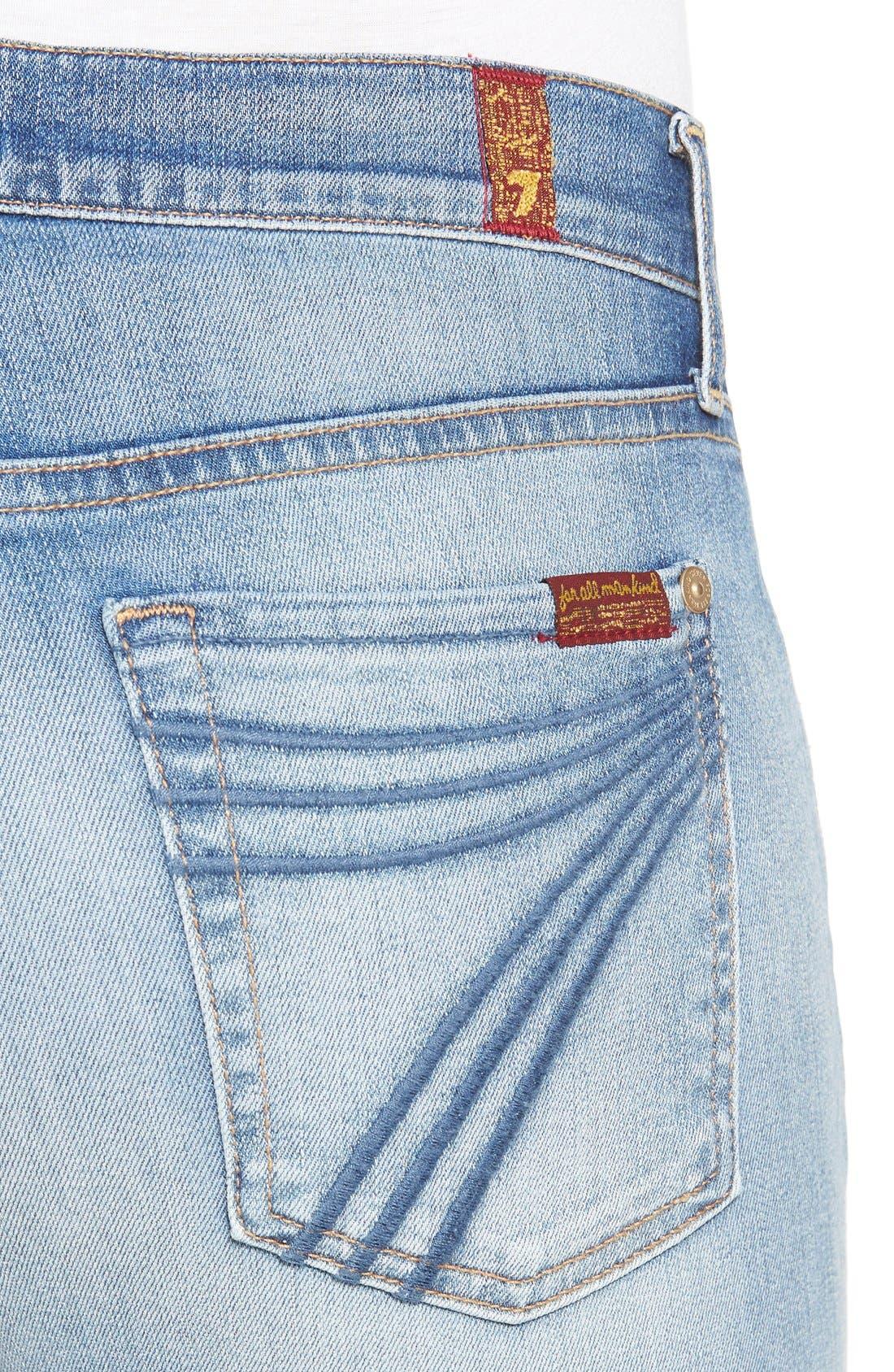 Alternate Image 4  - 7 For All Mankind® 'Dojo' Wide Leg Jeans