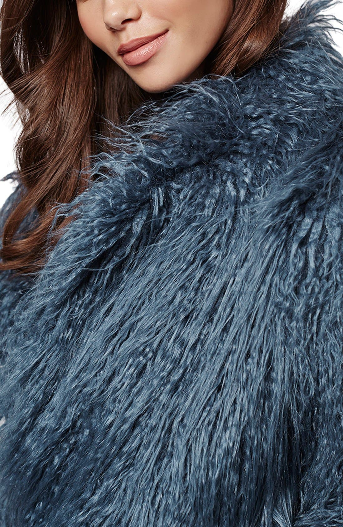 Alternate Image 5  - KENDALL + KYLIE at Topshop Faux Fur Coat
