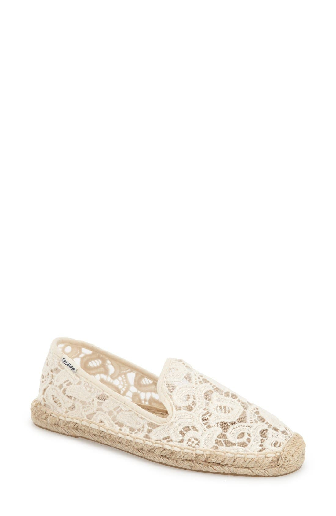 Main Image - Soludos Lace Espadrille Slip-On (Women)