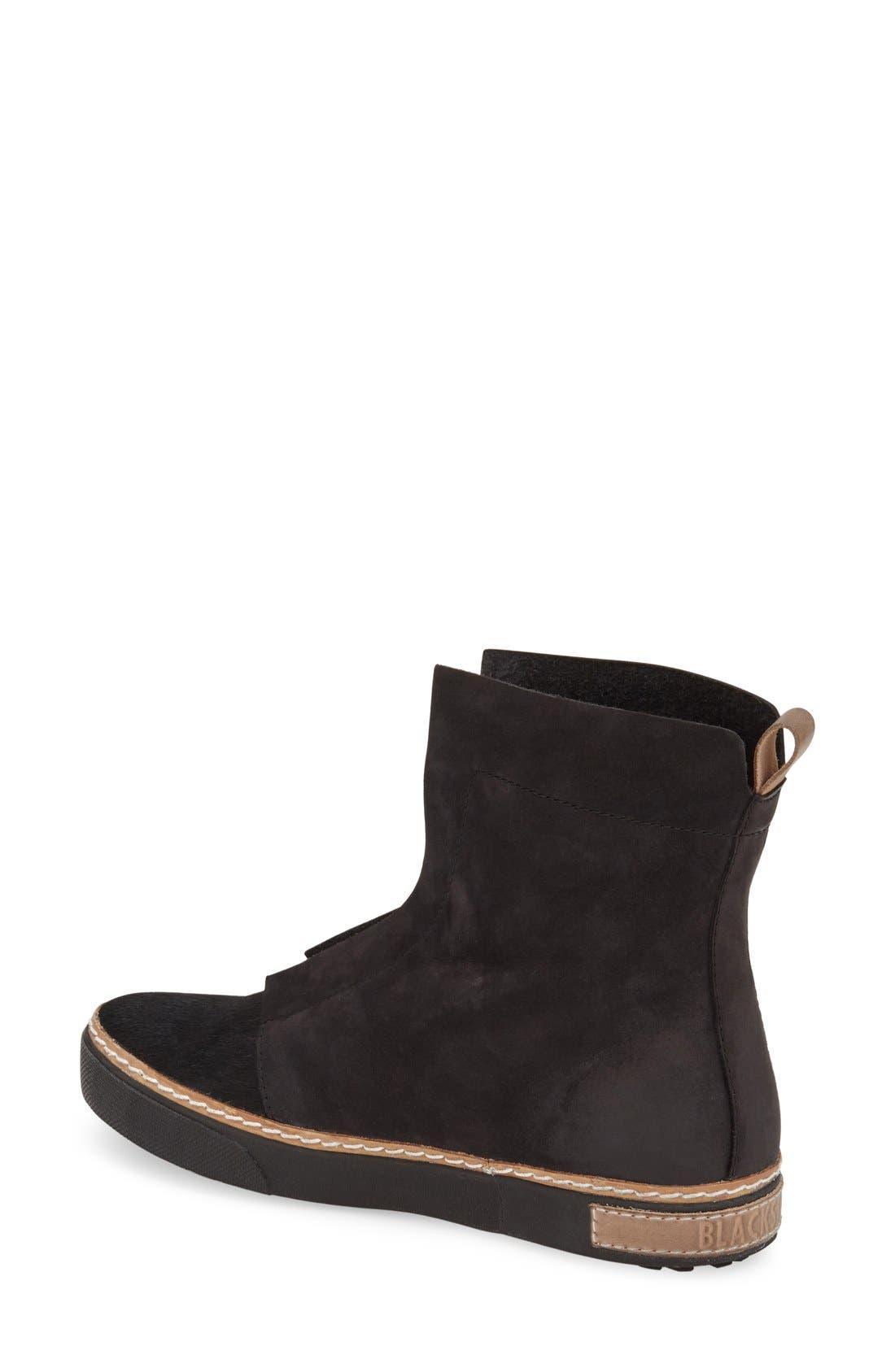 Genuine Calf Hair Zip Chukka Boot,                             Alternate thumbnail 2, color,                             Black Leather