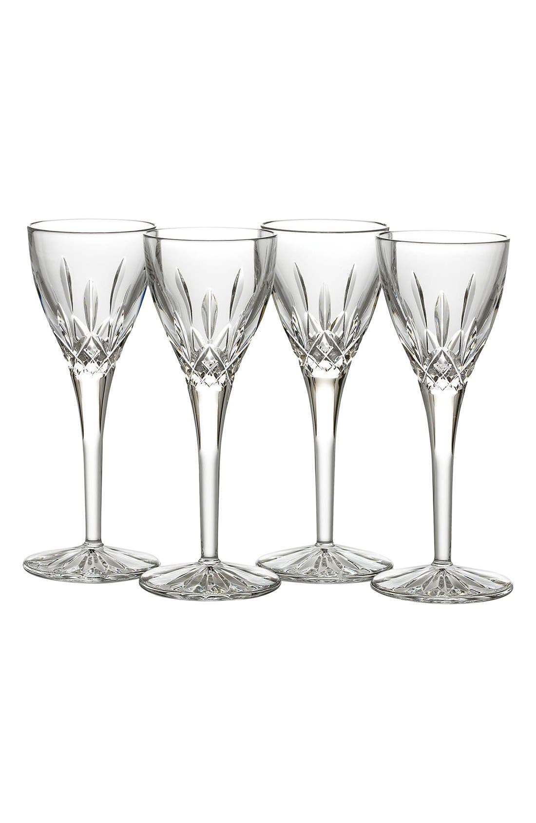 'Lismore' Lead Crystal Cordial Glasses,                         Main,                         color, Clear