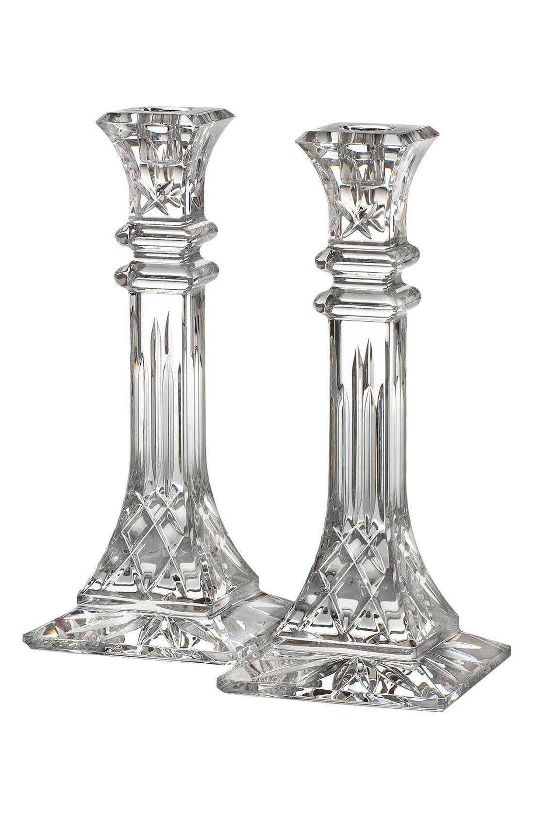 Alternate Image 2  - Waterford 'Lismore' Lead Crystal Candlesticks (Set of 2)