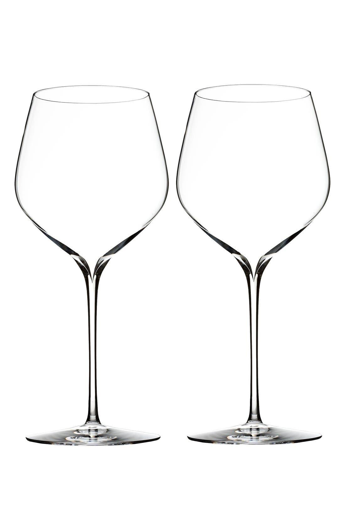 'Elegance' Fine Crystal Cabernet Sauvignon Glasses,                             Main thumbnail 1, color,                             Clear