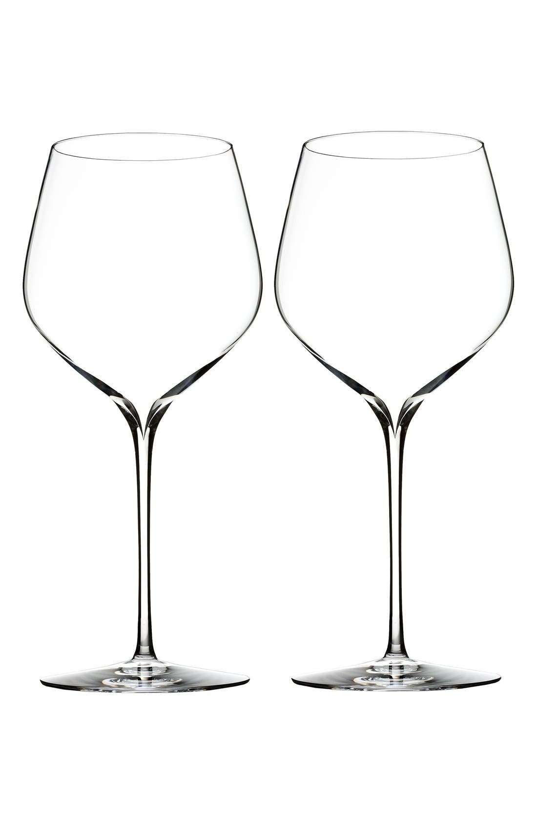 'Elegance' Fine Crystal Cabernet Sauvignon Glasses,                         Main,                         color, Clear