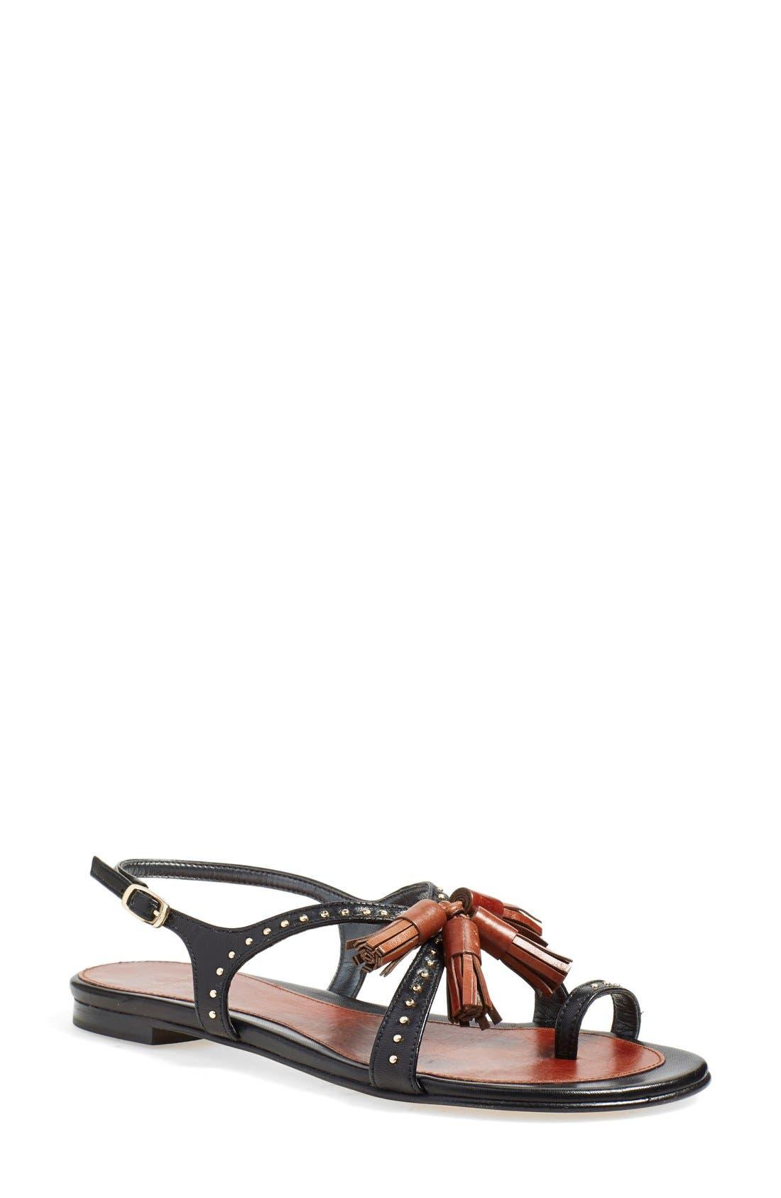Main Image - Stuart Weitzman 'Flap Again' Flat Sandal (Women)