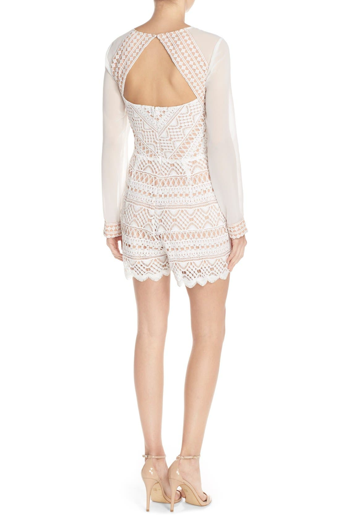 Alternate Image 2  - Adelyn Rae Chiffon & Lace Romper