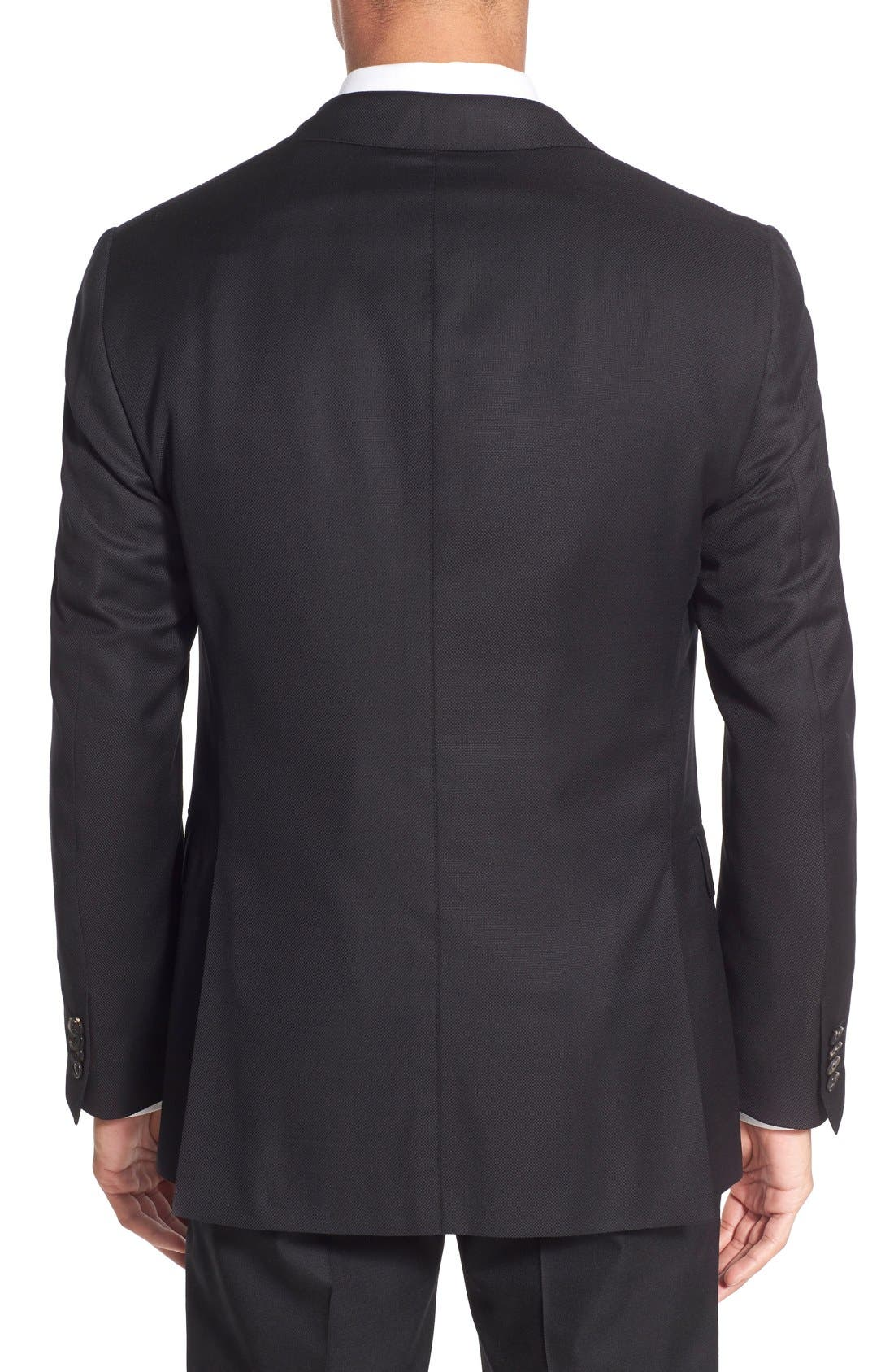 Classic Fit Wool Blazer,                             Alternate thumbnail 2, color,                             Black