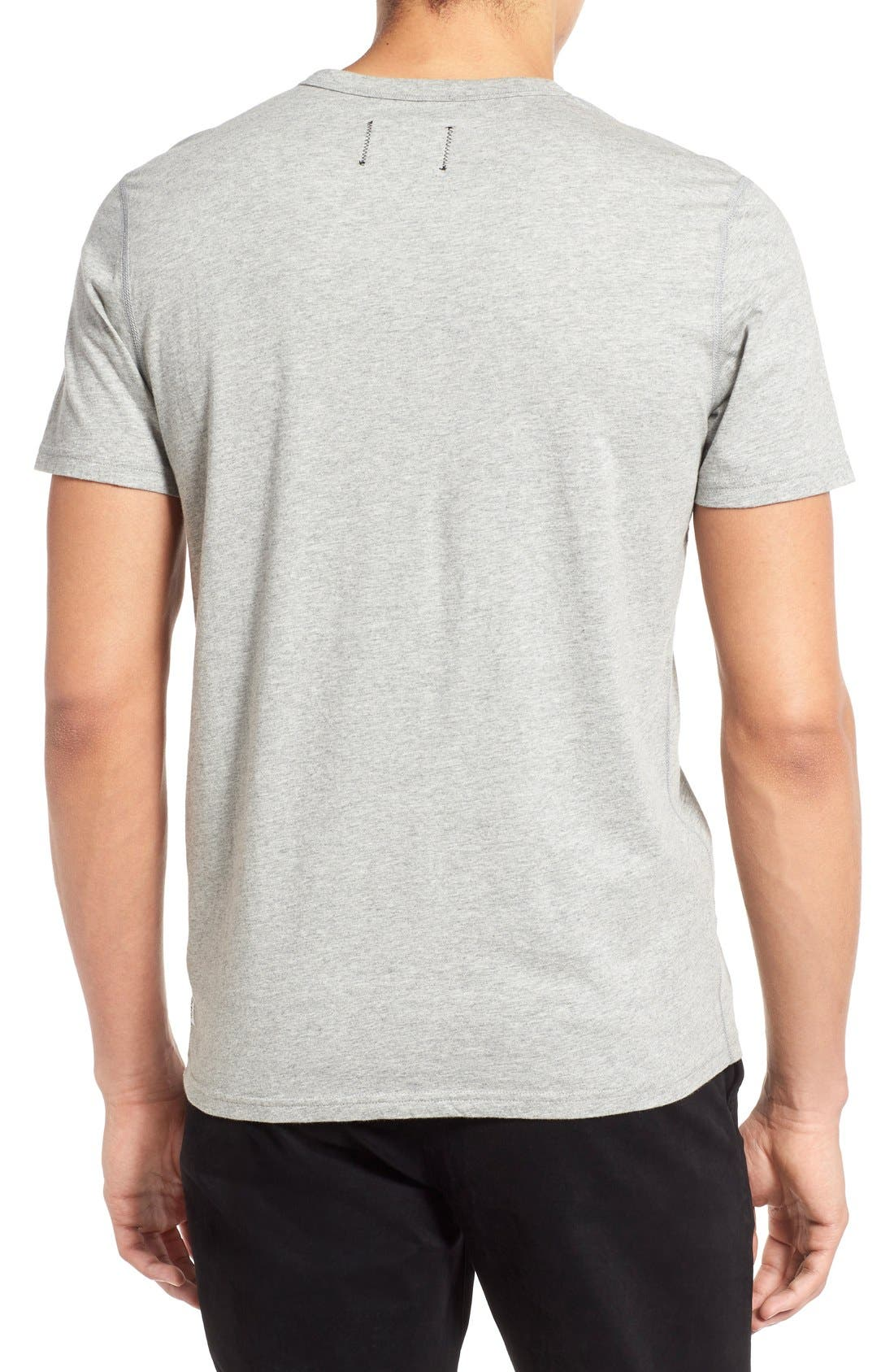 Short Sleeve Crewneck T-Shirt,                             Alternate thumbnail 3, color,                             Heather Grey