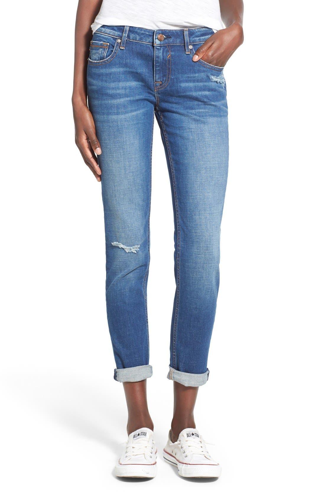 Main Image - Vigoss 'Tomboy Thompson' Destructed Jeans (Medium Wash)