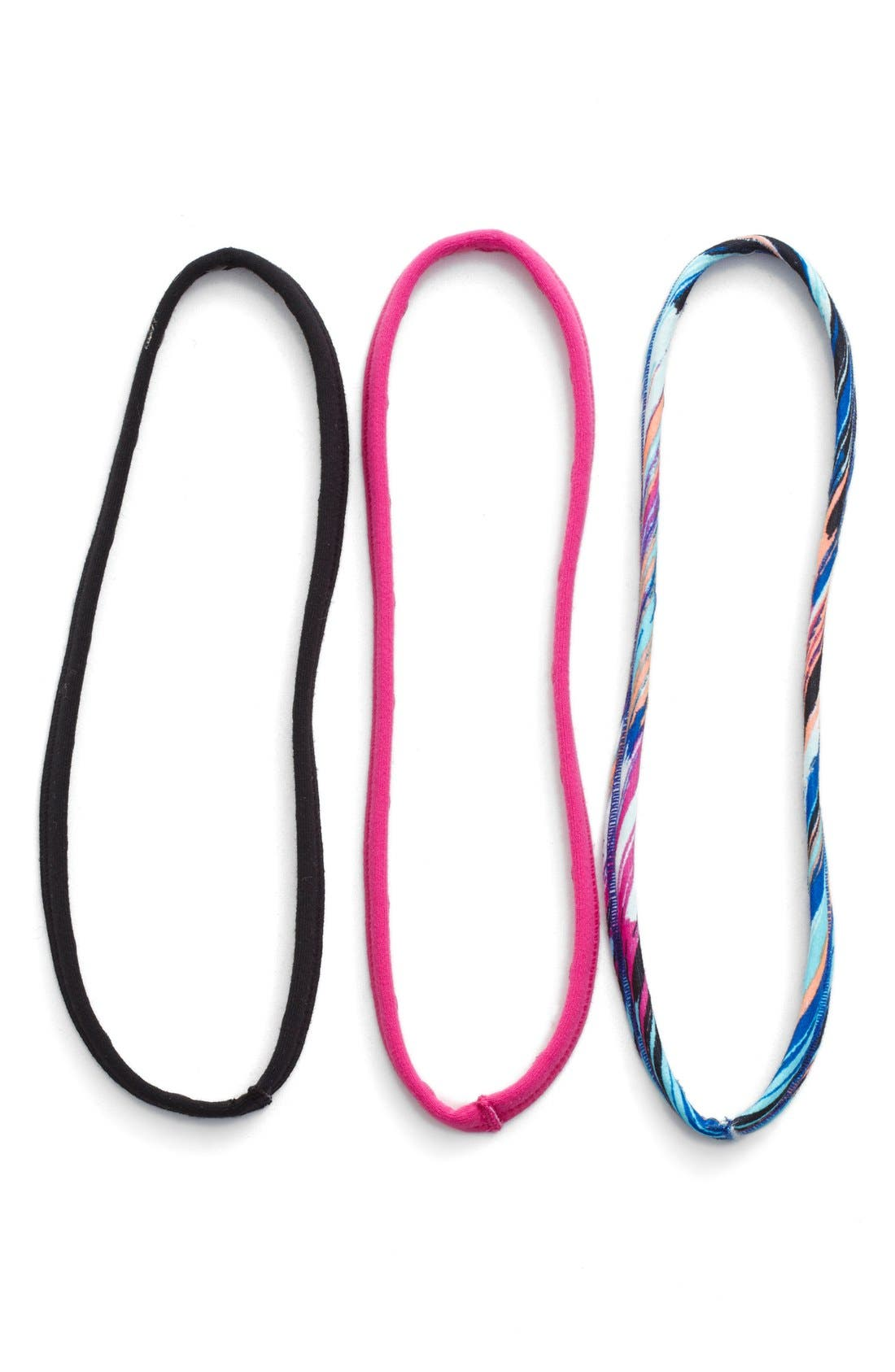 'Skinny Minnie' Headbands,                             Main thumbnail 1, color,                             Pink Cyclamen