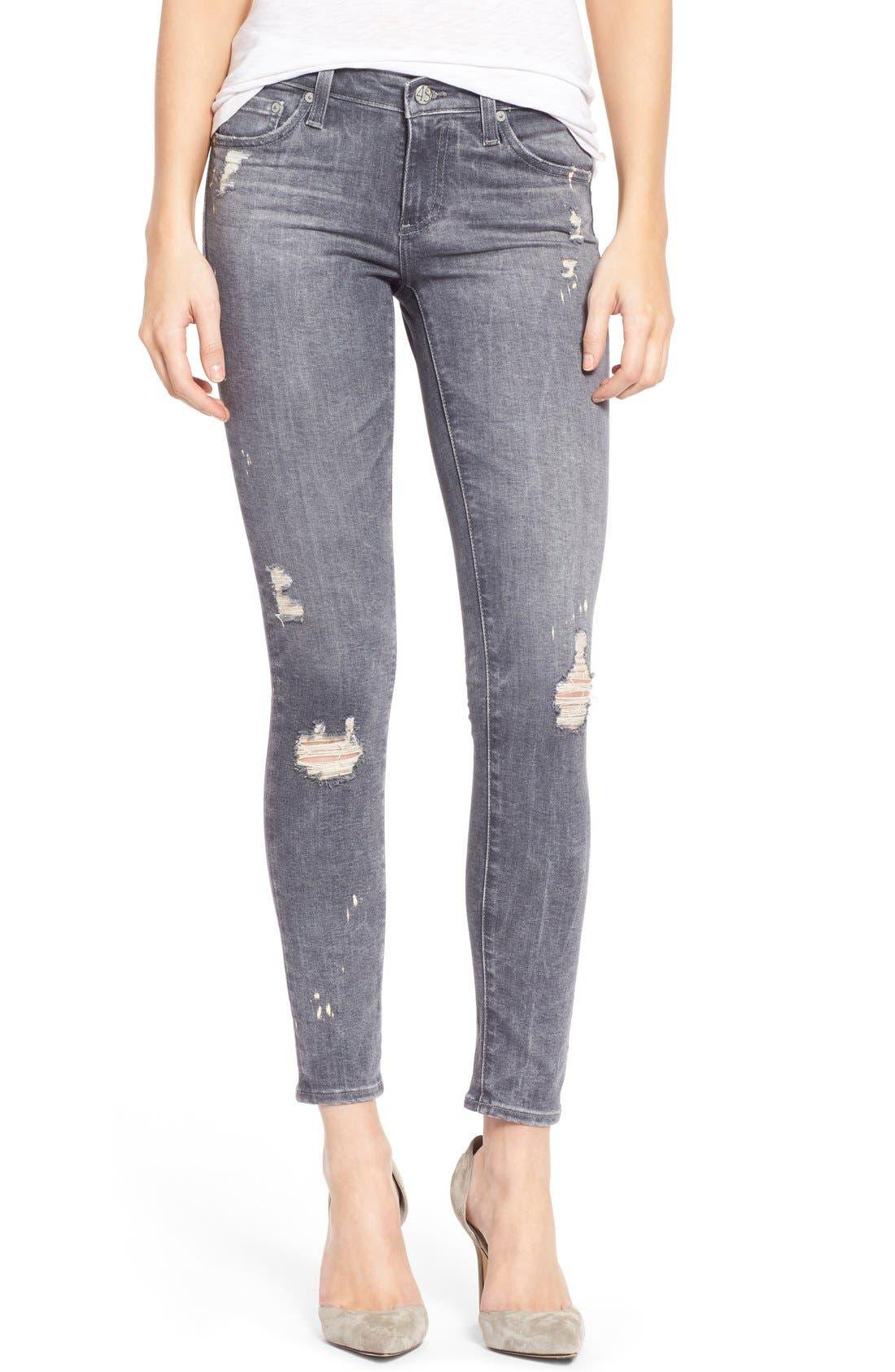 Alternate Image 1 Selected - AG Ankle 'The Legging' Super Skinny Jeans