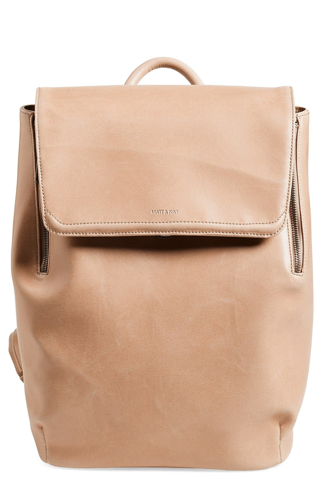 Alternate Image 1 Selected - Matt & Nat 'Fabi' Faux Leather Laptop Backpack
