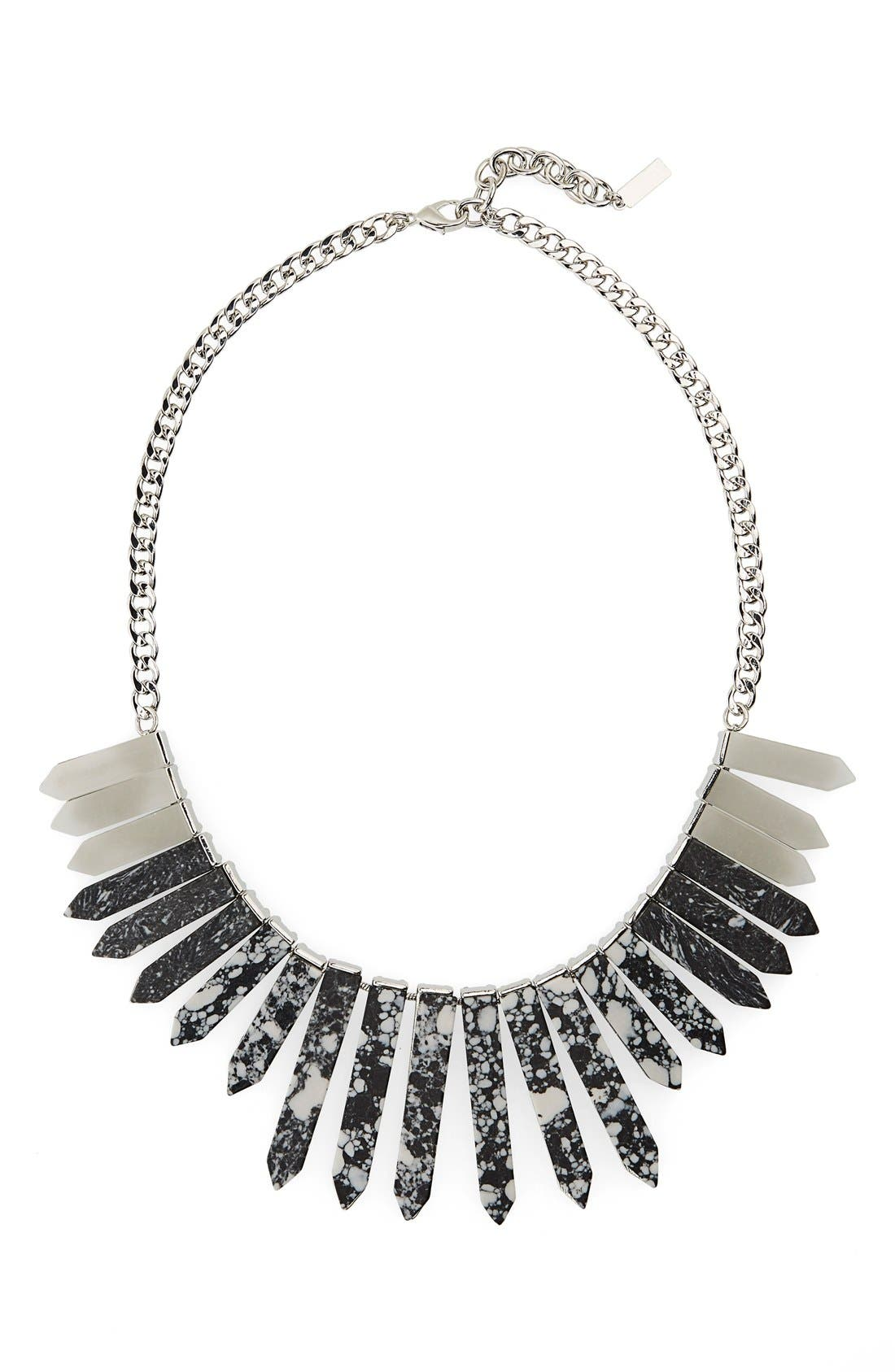 Main Image - BaubleBar 'Marble Ra' Bib Necklace