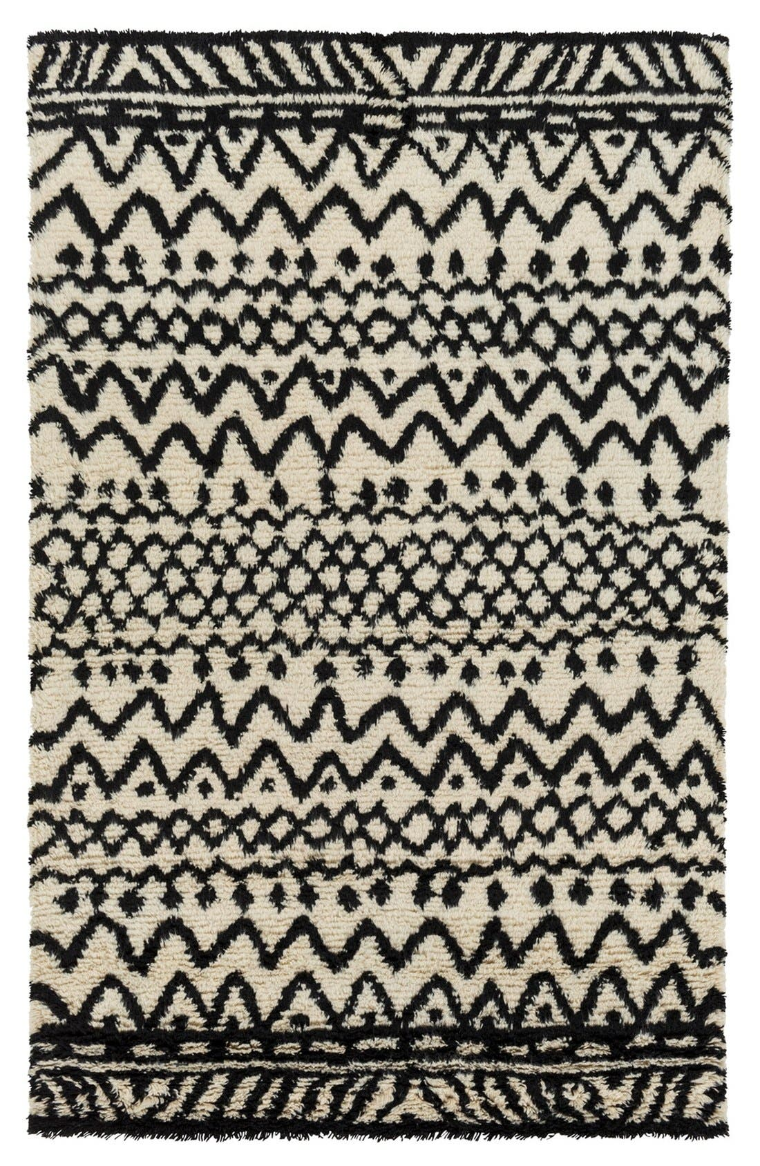 'Dwell C' Wool Rug,                         Main,                         color, Beige/ Charcoal