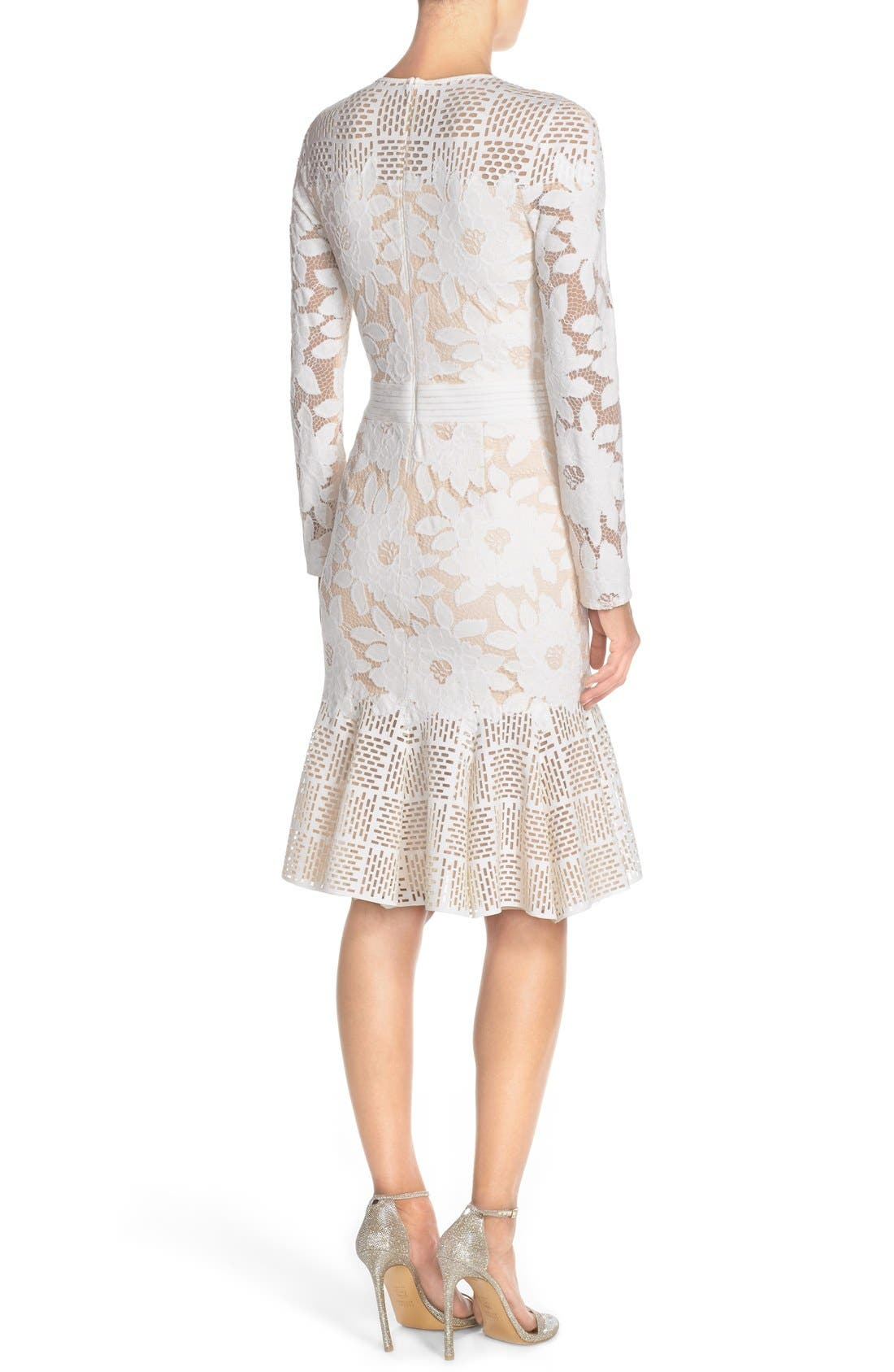 Alternate Image 2  - Tadashi Shoji Lace & Cutout Neoprene Sheath Dress