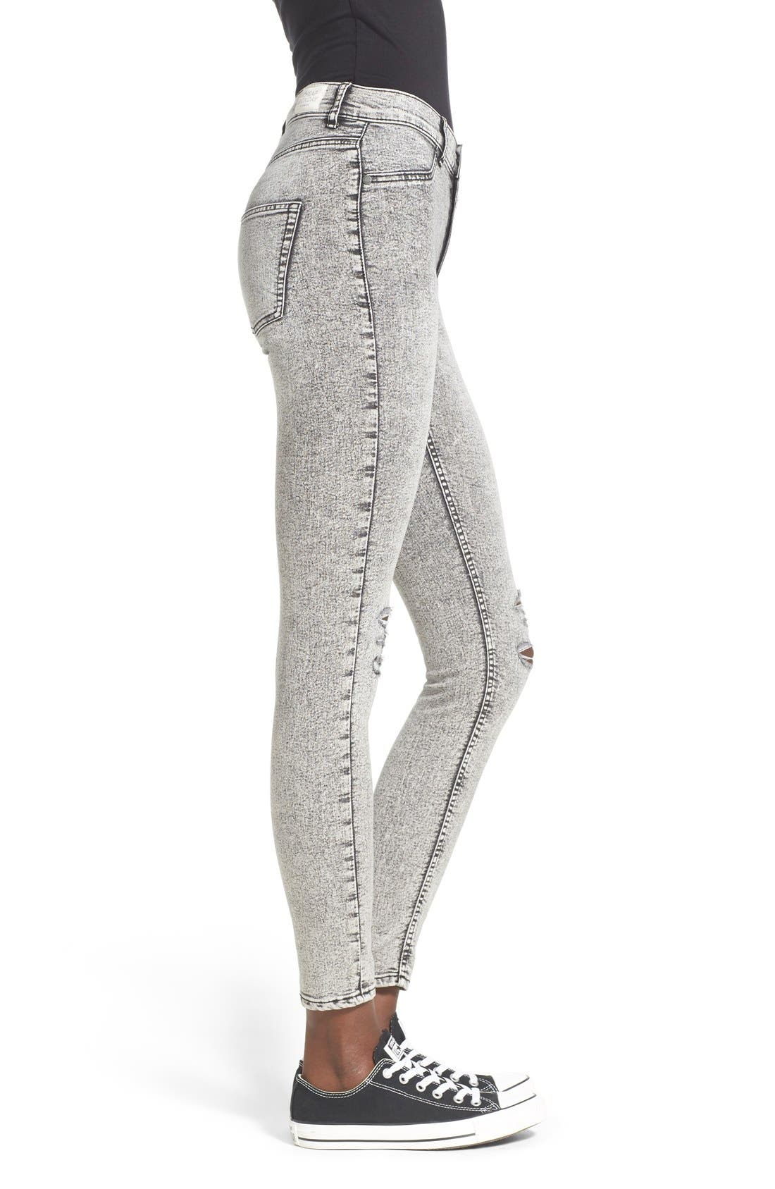 Alternate Image 3  - Cheap Monday 'High Spray' Distressed High Rise Skinny Jeans (Master Grey)
